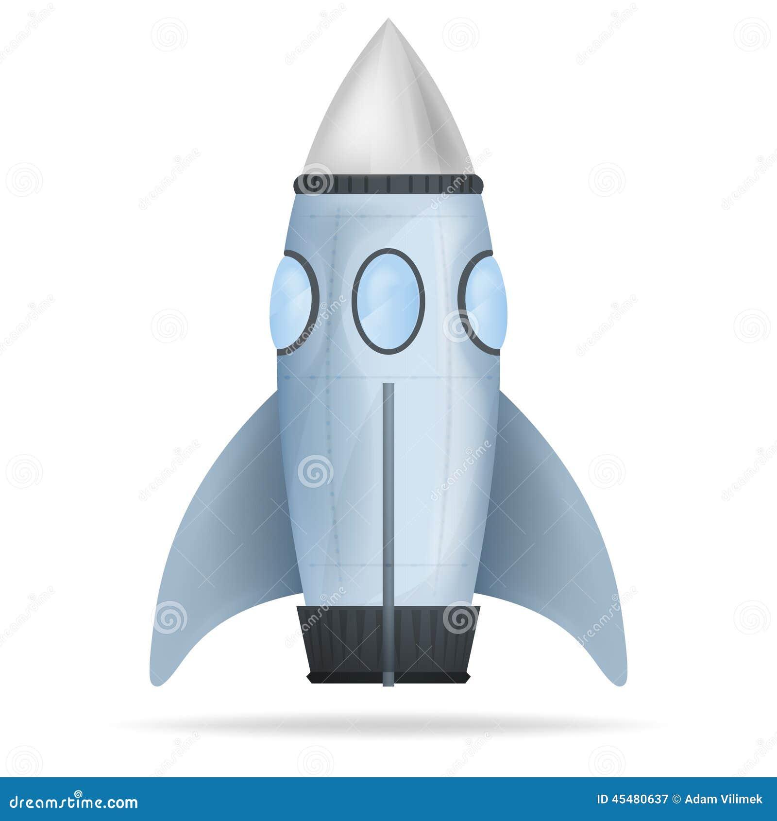 蓝色常设火箭被隔绝的传染媒介