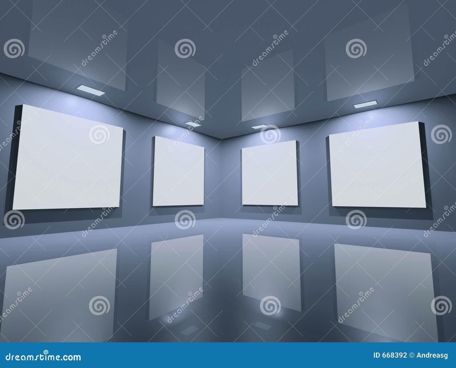 蓝色干净的画廊灰色网站