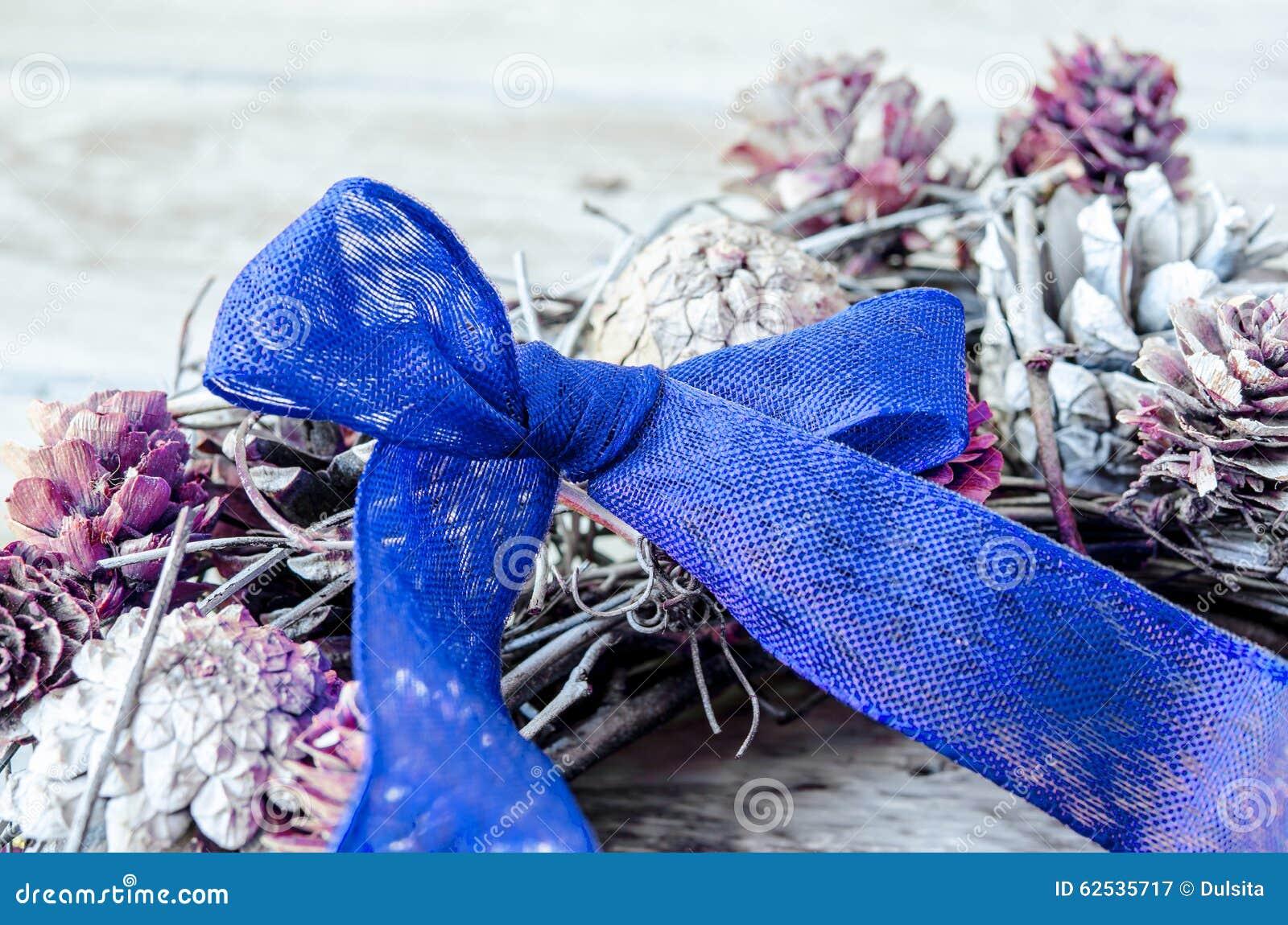 蓝色弓圣诞节
