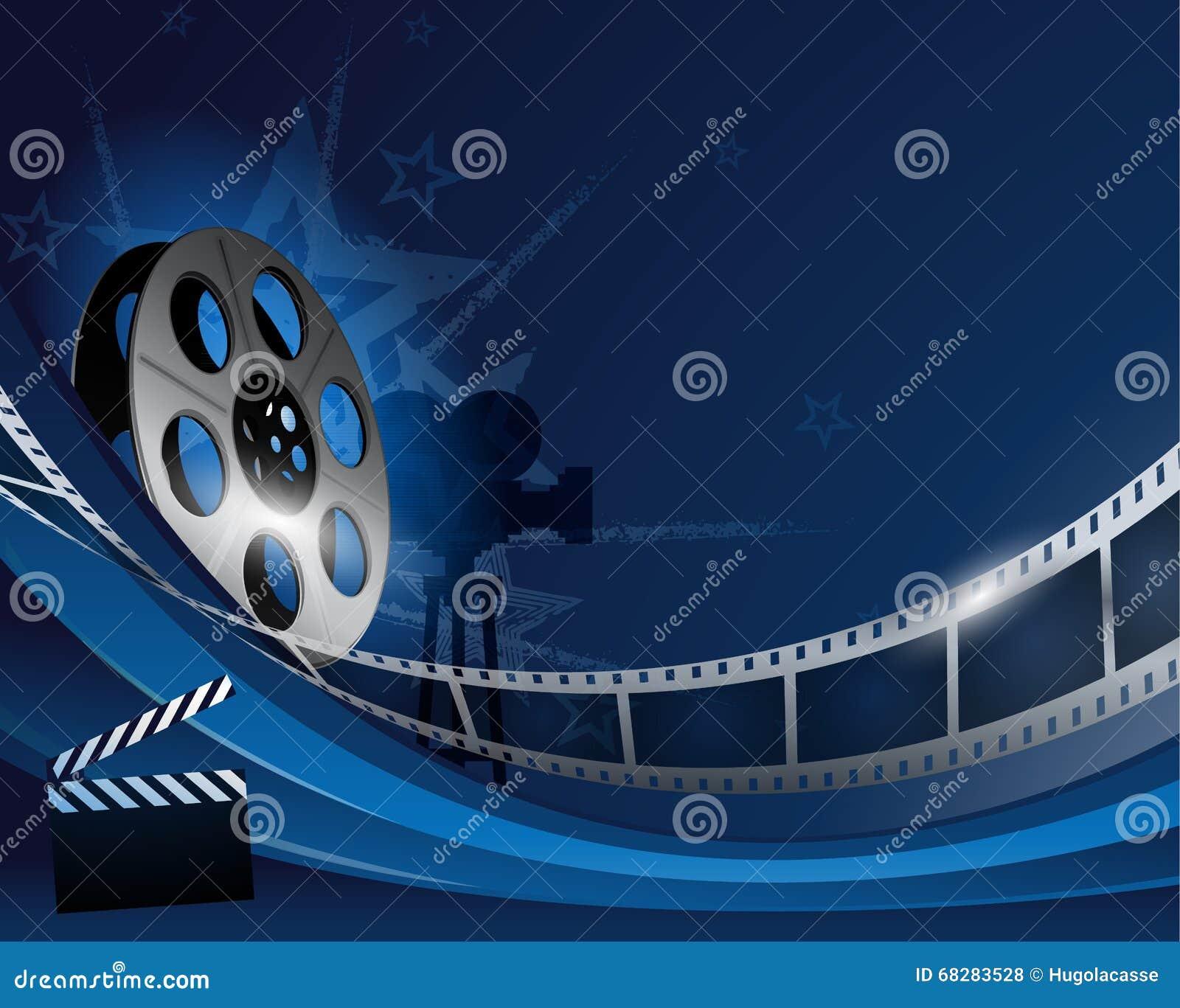 影视背景_蓝色抽象影片轴电影背景