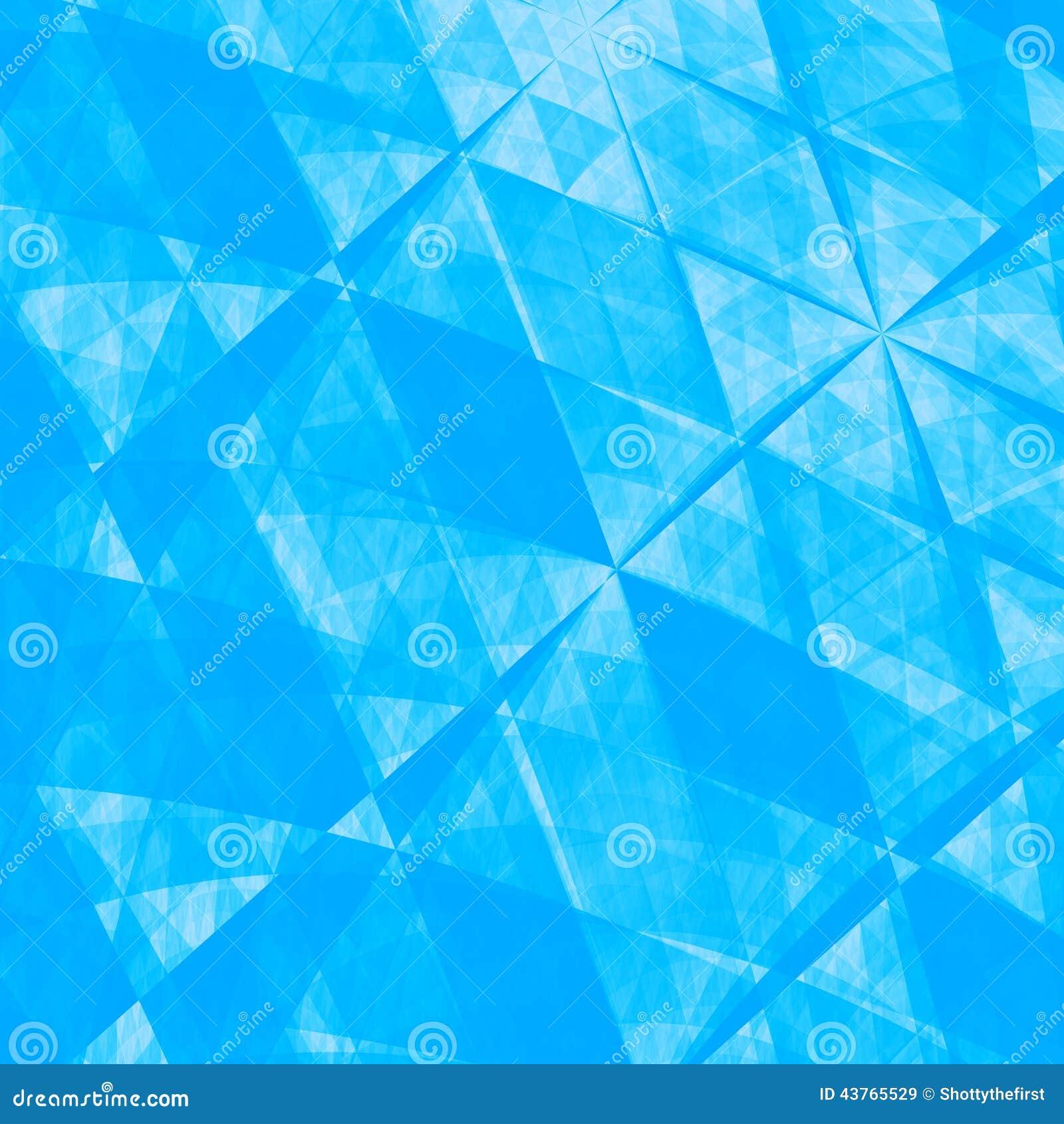 蓝色抽象Origami纸背景-纹理