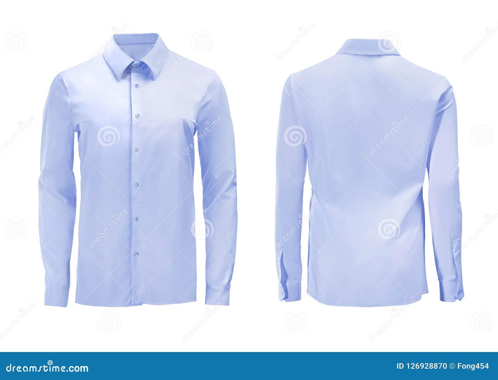 蓝色有在丝毫隔绝的下来按钮衣领的颜色正式衬衣