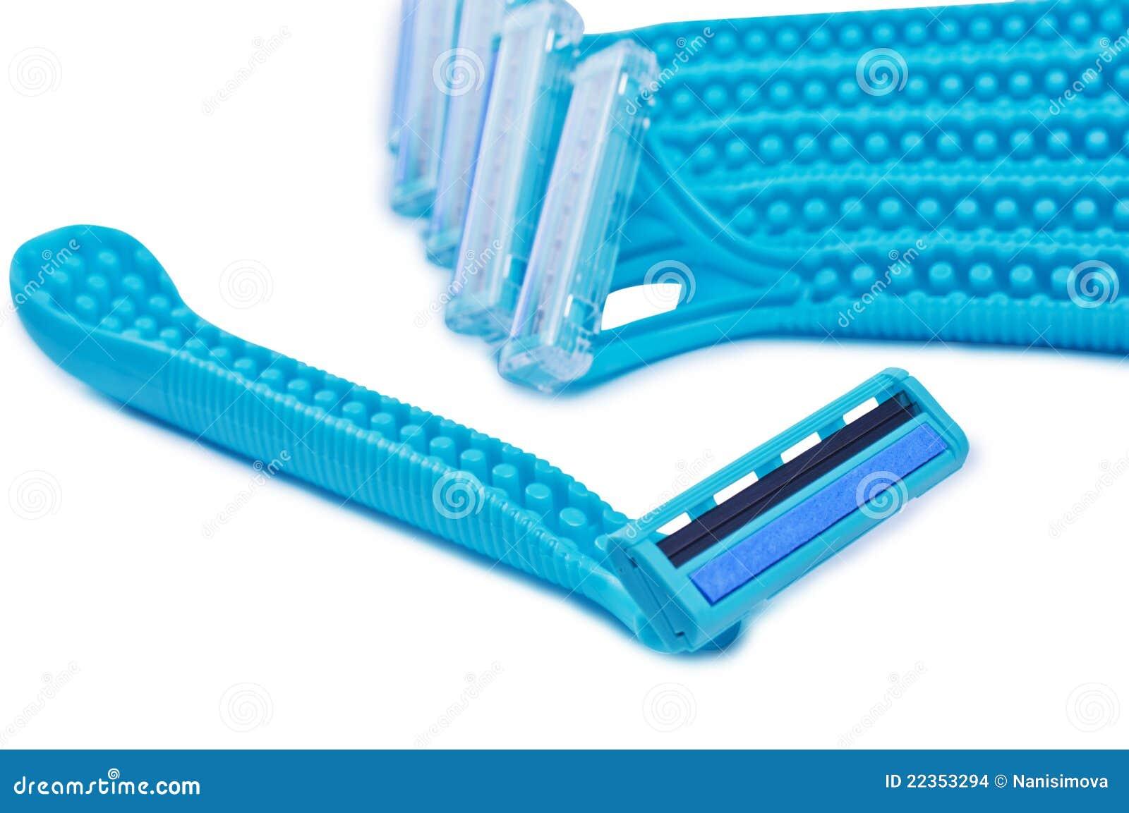 蓝色束剃刀