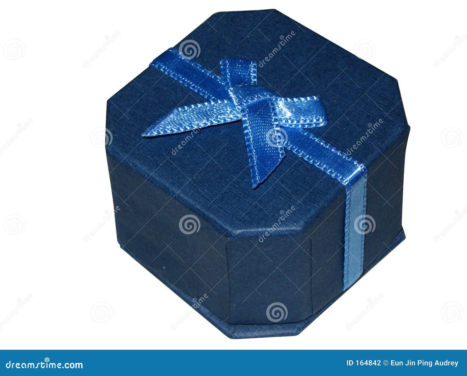 蓝色框礼品珠宝