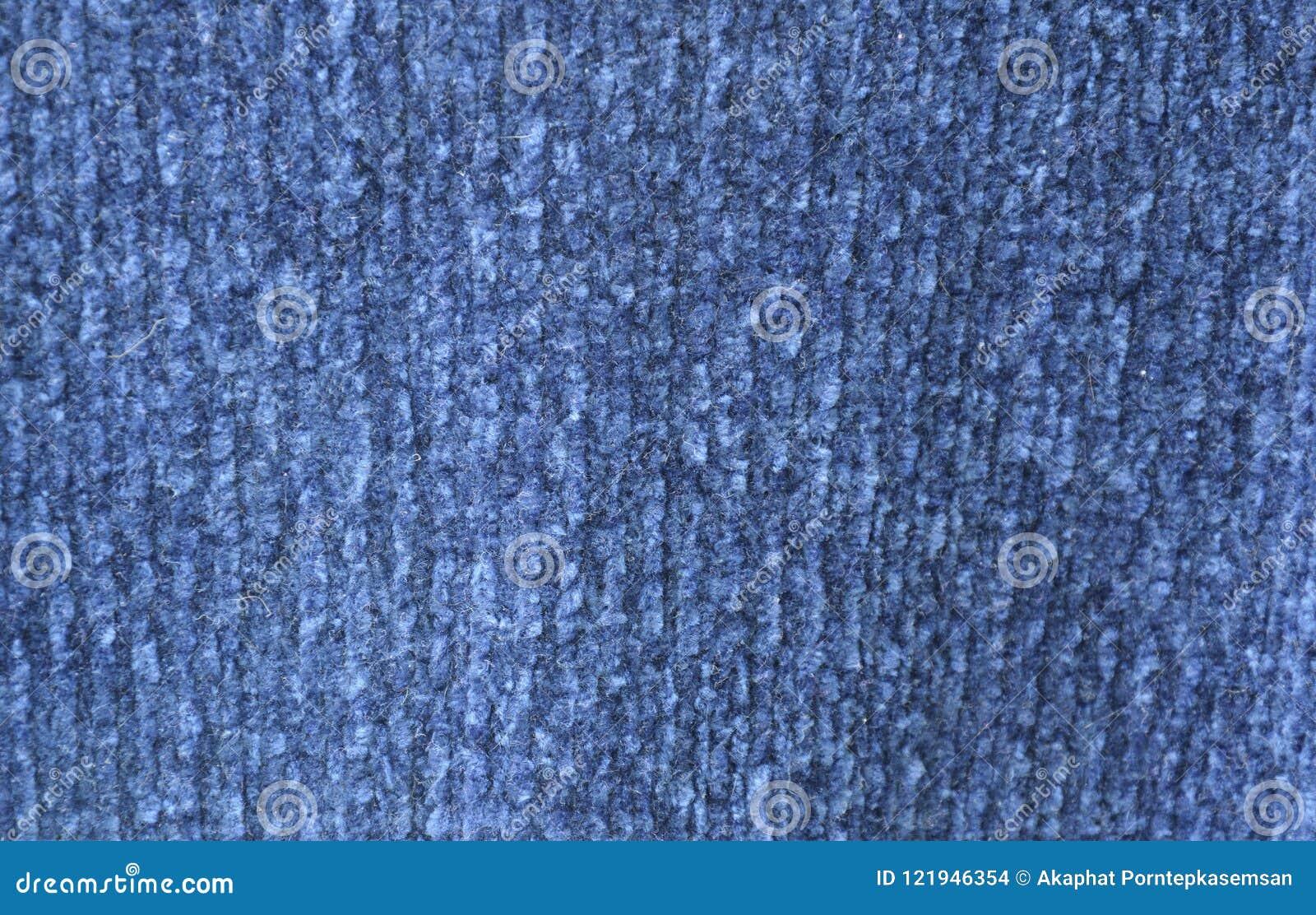 蓝色毛线衣织品纹理和背景