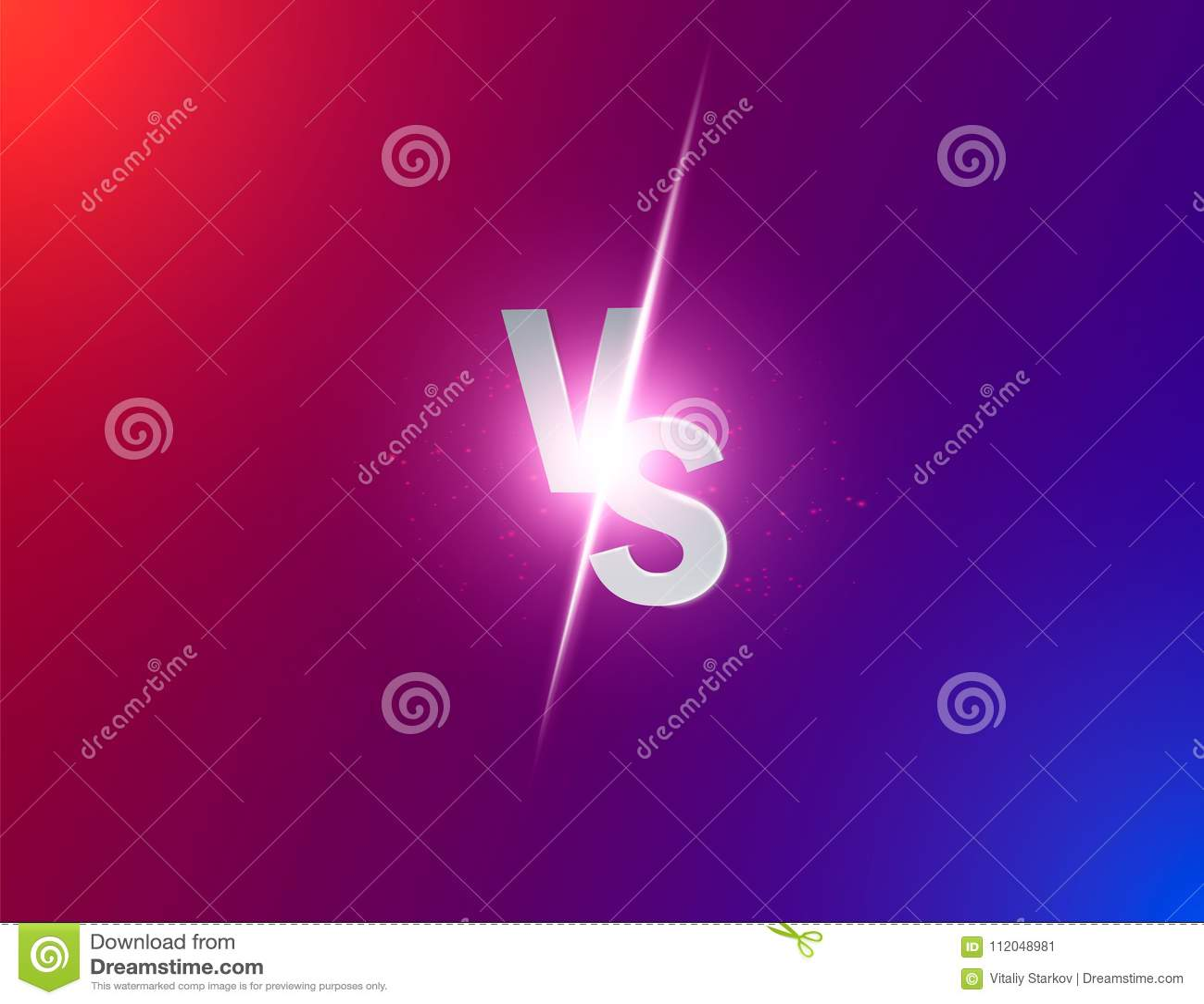 蓝色氖对商标对体育和战斗竞争的信件 作战对比赛,比赛概念竞争对 传染媒介illustrati