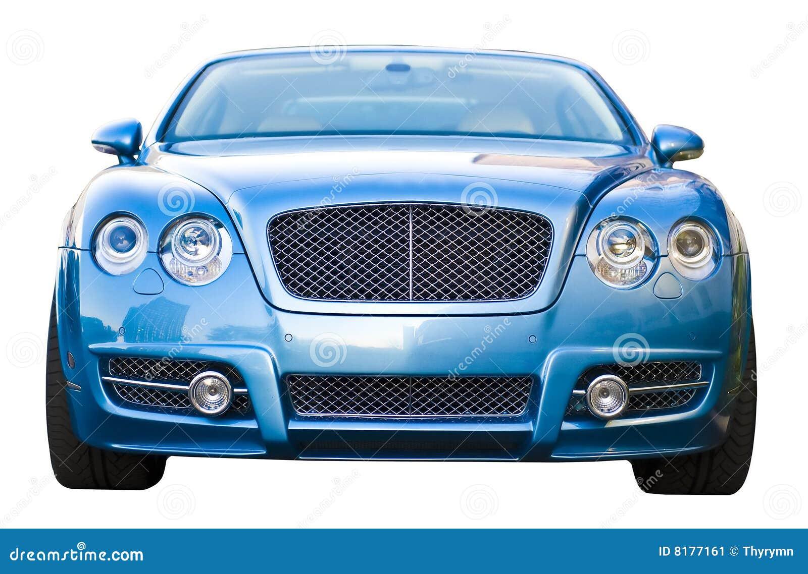 蓝色汽车豪华