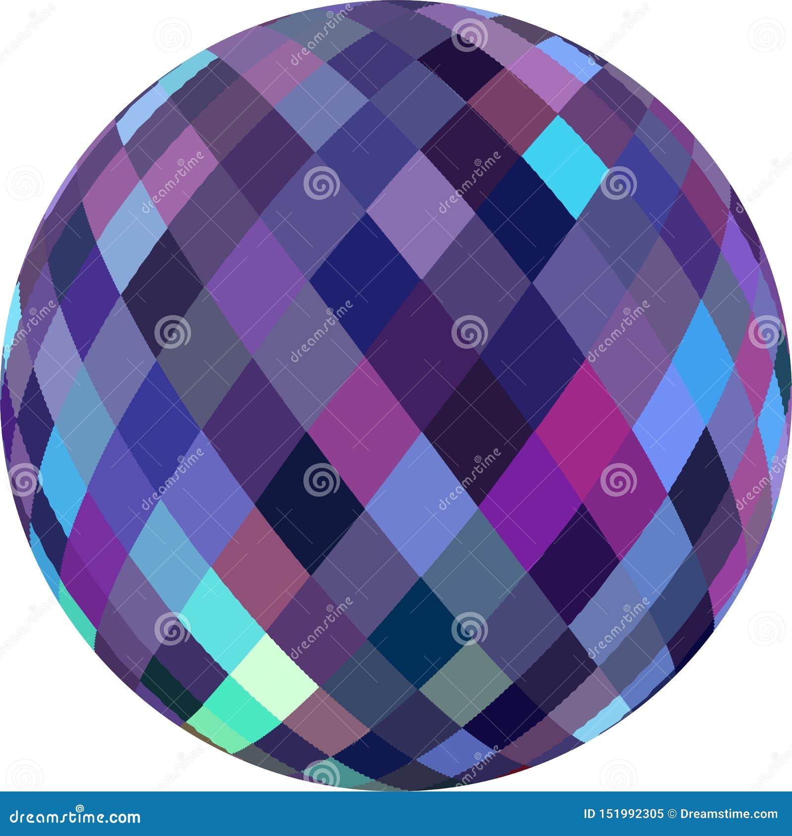 蓝色淡紫色桃红色五彩玻璃sphere3d 抽象图表