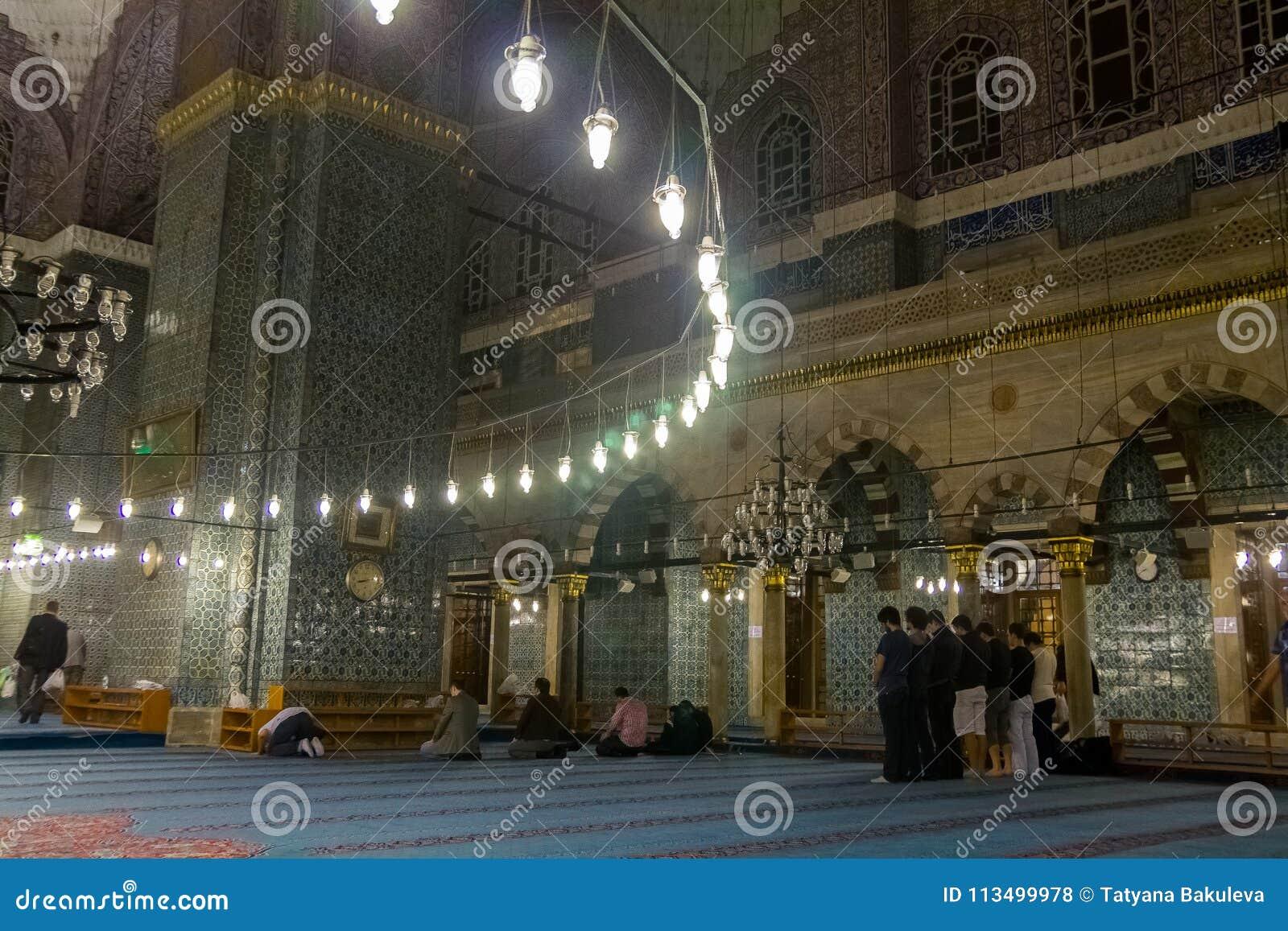 蓝色清真寺Sultanahmet清真寺的室内装璜