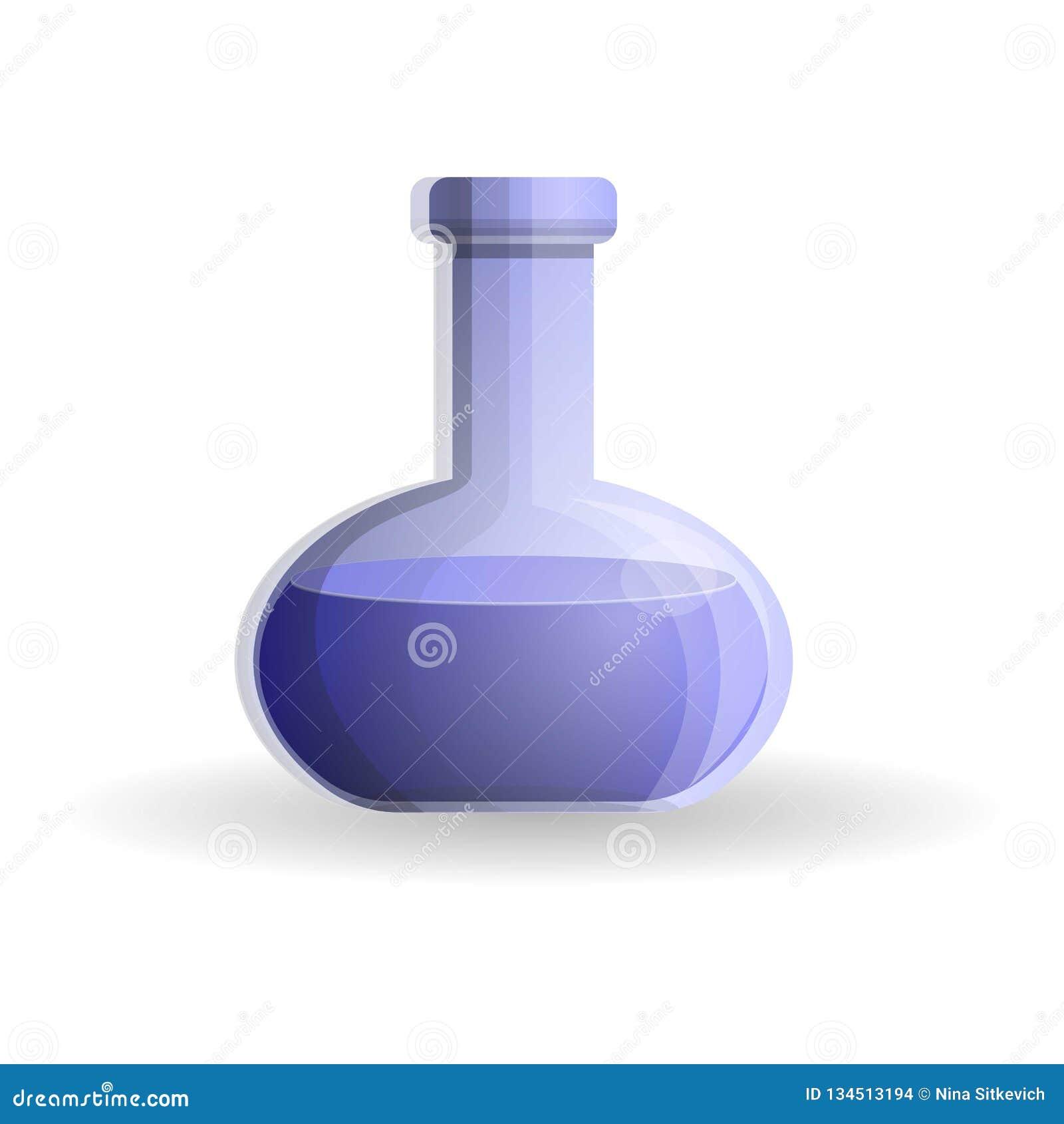 蓝色烧瓶象,动画片样式