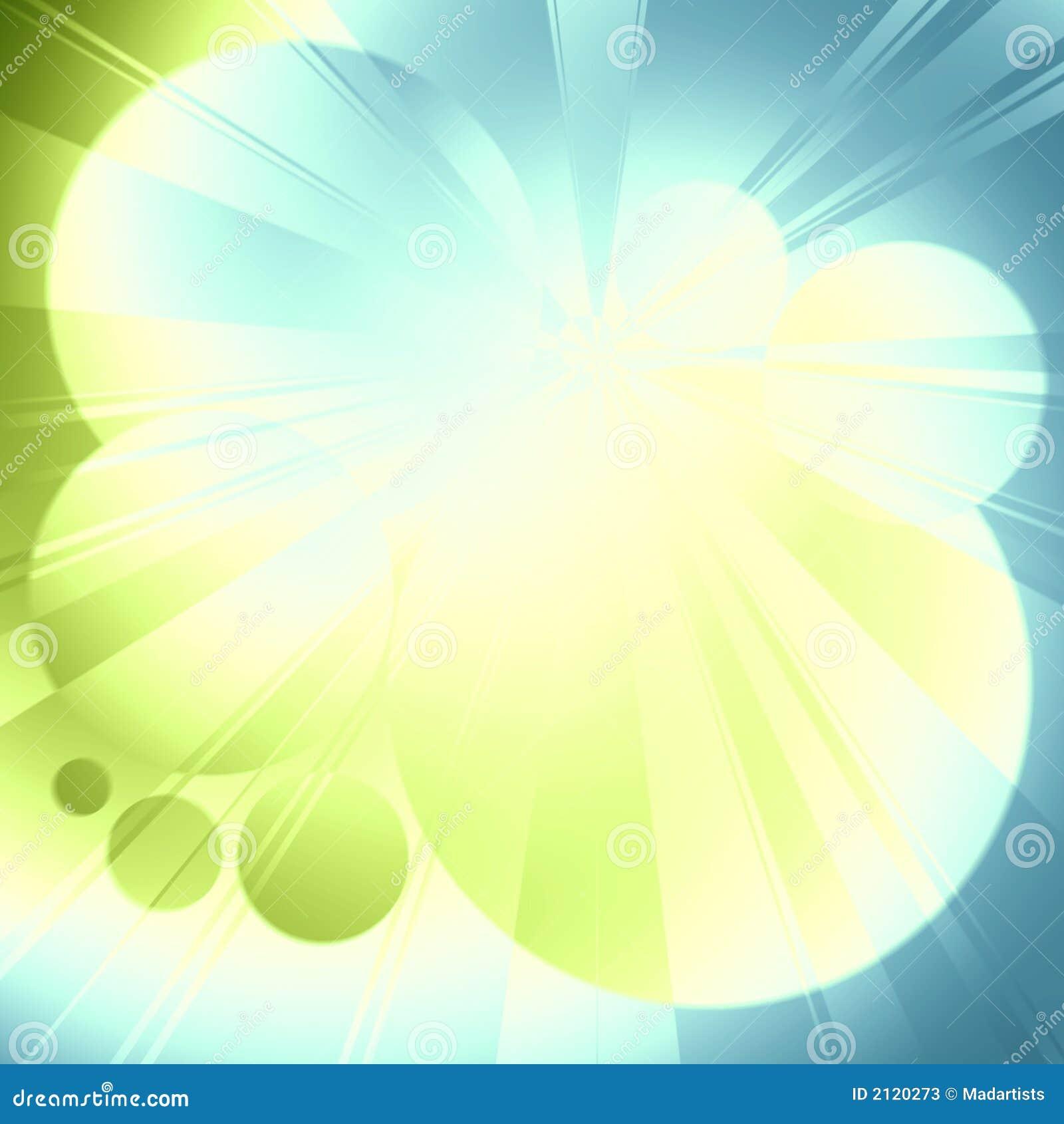 蓝色焕发绿灯光芒