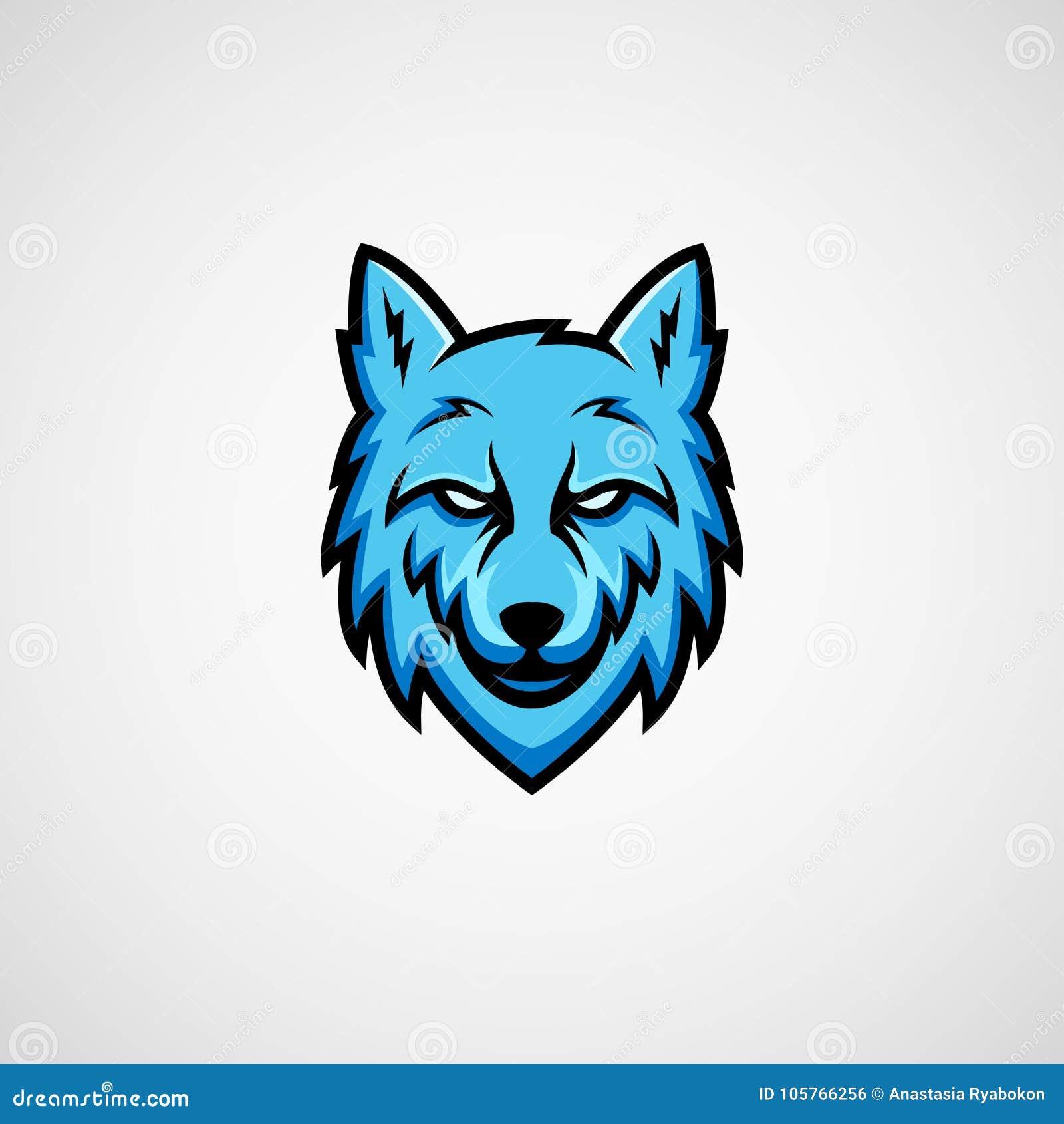 蓝色狼吉祥人商标传染媒介
