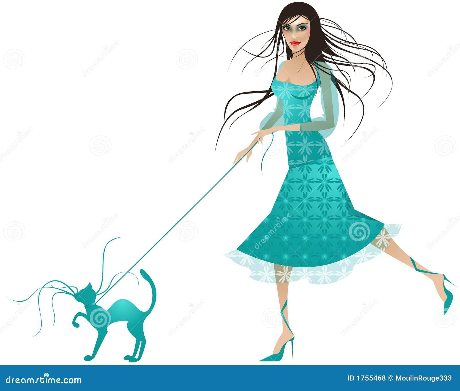蓝色猫加工好的夫人