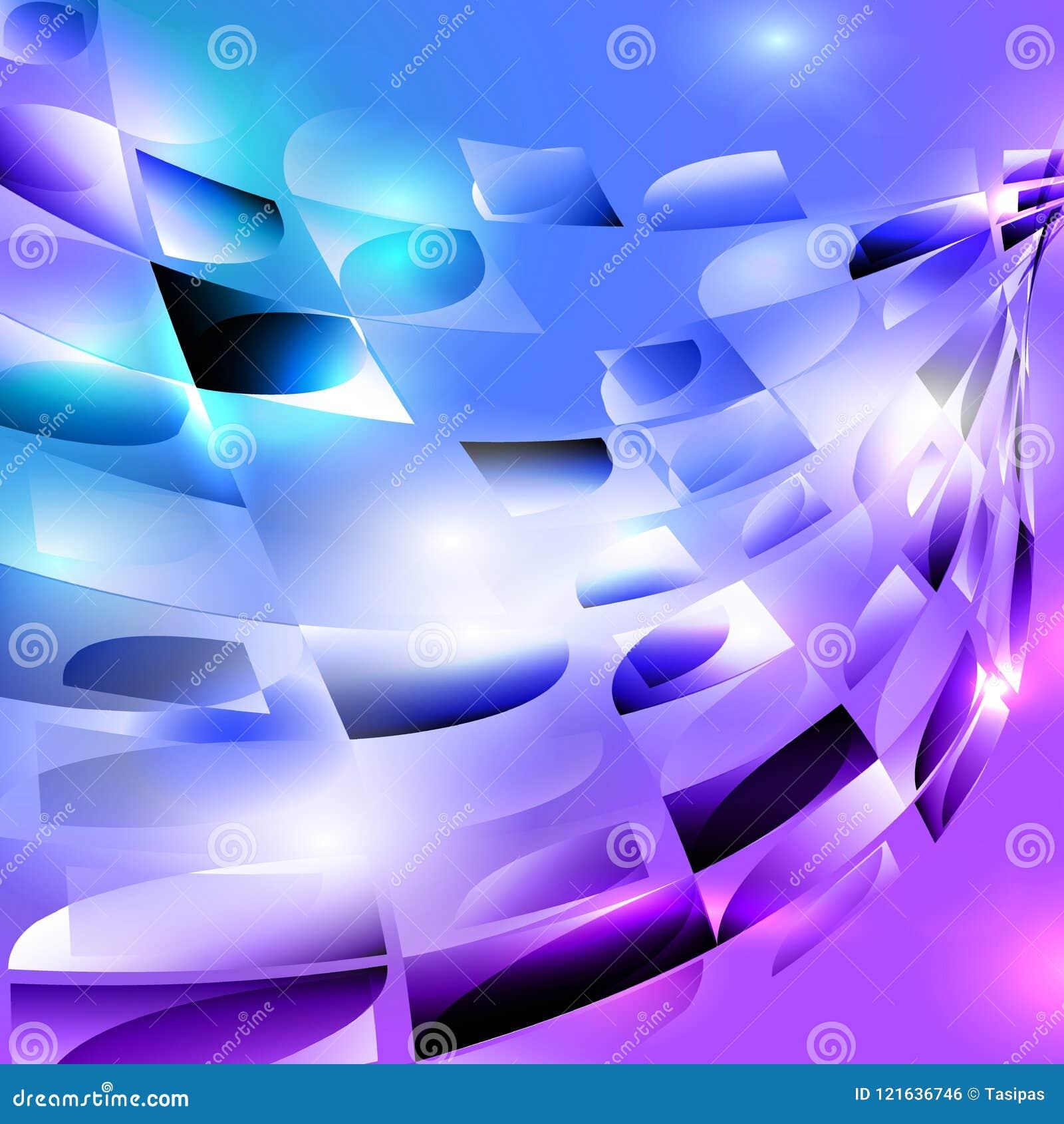 蓝色紫色绿松石黑色螺旋环绕了马赛克背景
