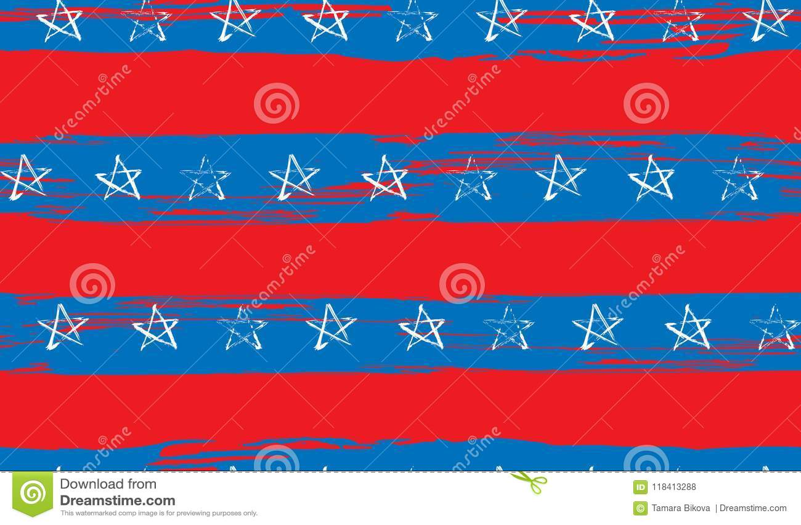 蓝色红色白色星条旗难看的东西的无缝的样式
