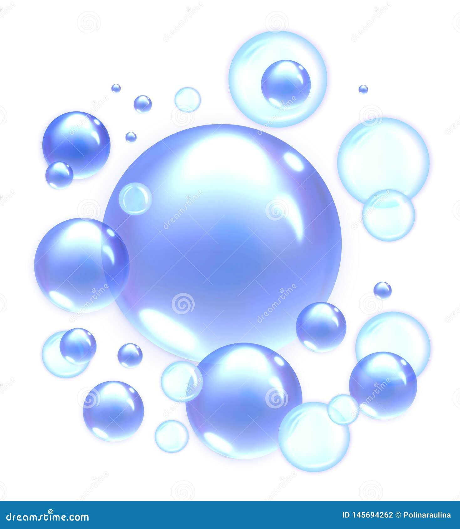 蓝色肥皂泡