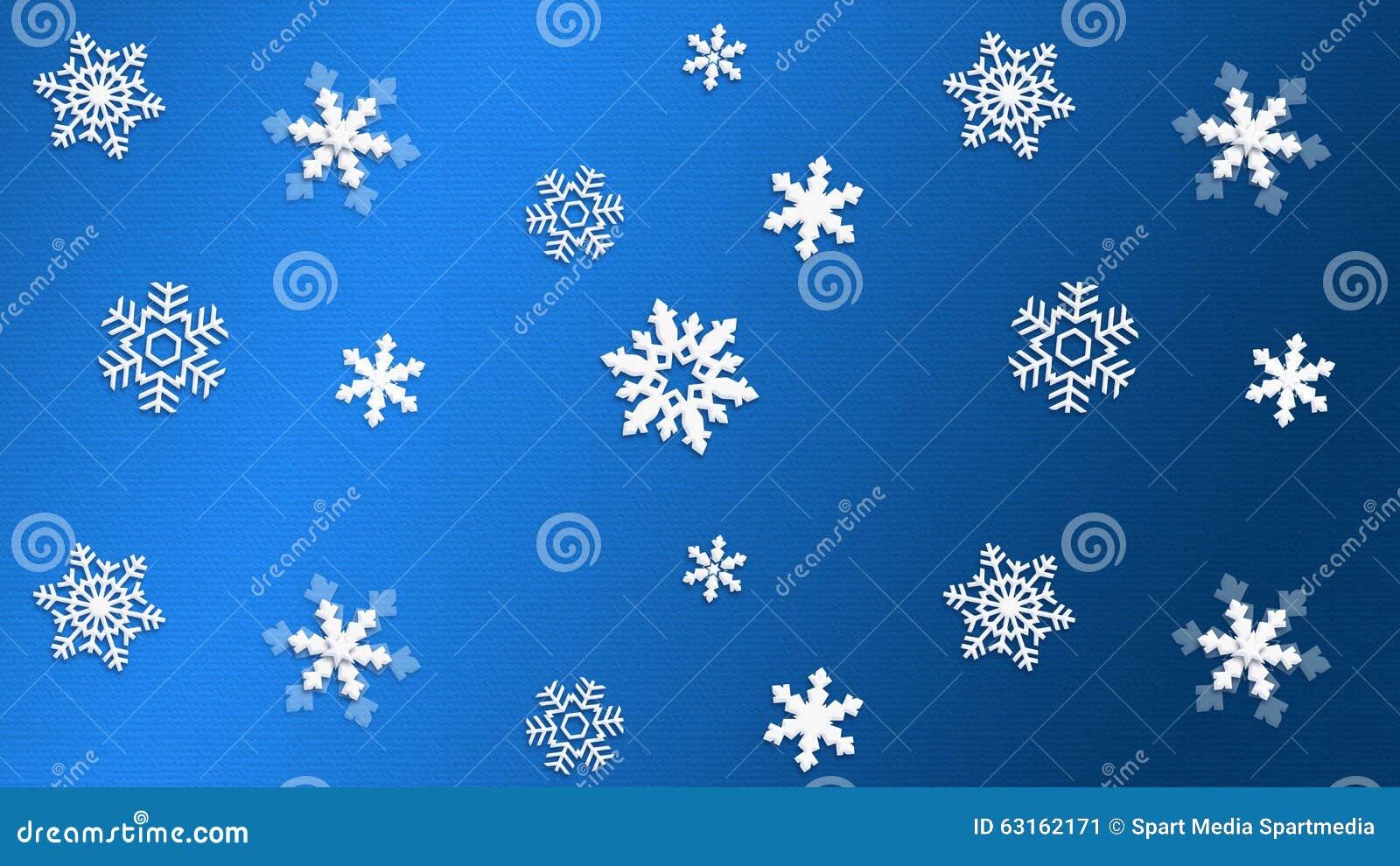 蓝色背景纹理雪花