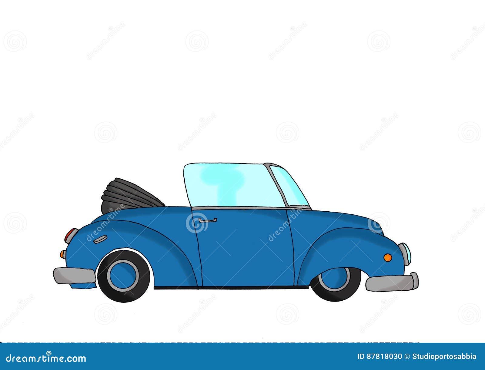 蓝色葡萄酒幻想汽车