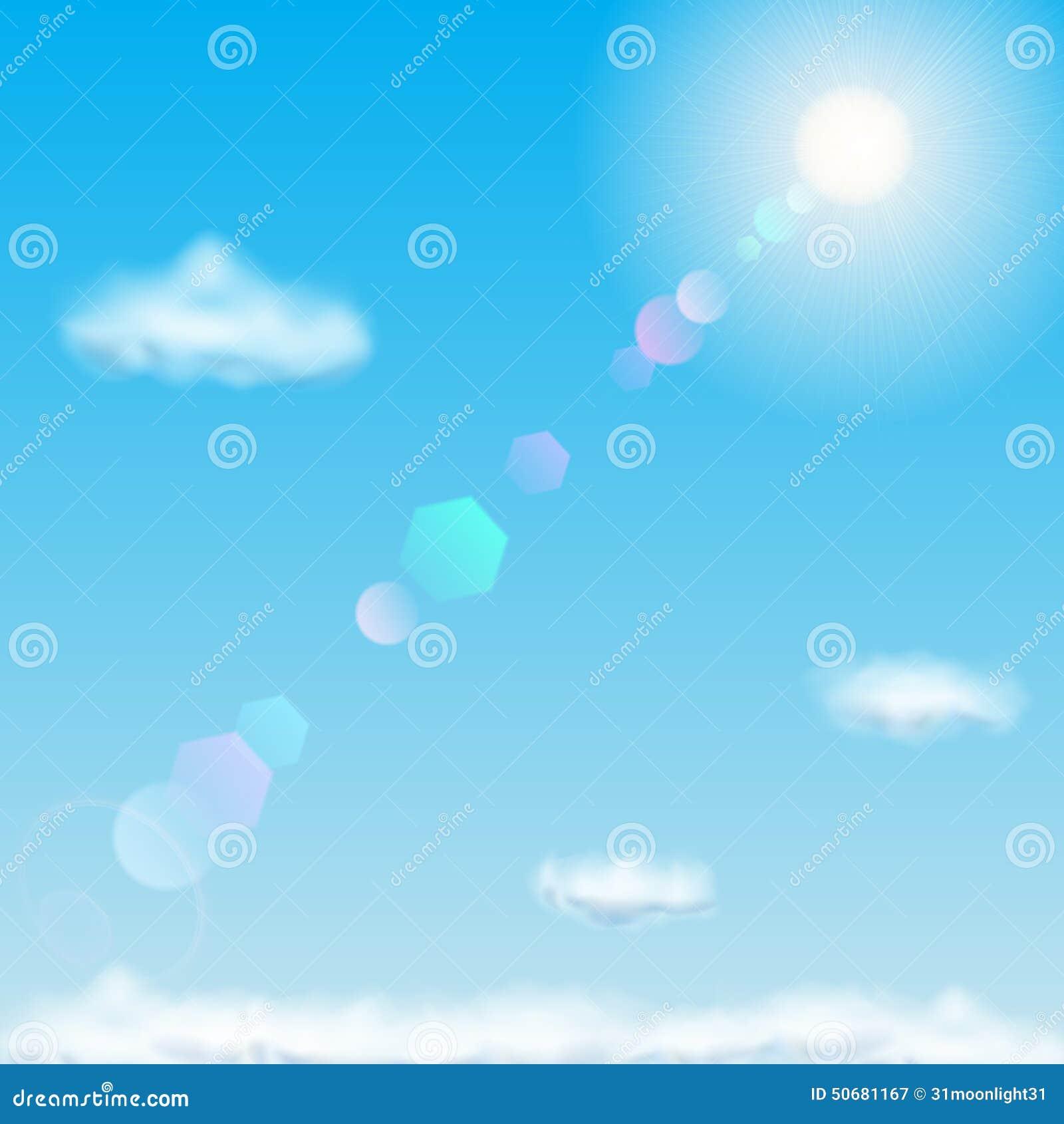 Download 蓝色覆盖天空星期日 向量例证. 插画 包括有 蓝色, 云彩, 本质, 天空, 亮光, 怒视, 放光, 春天 - 50681167