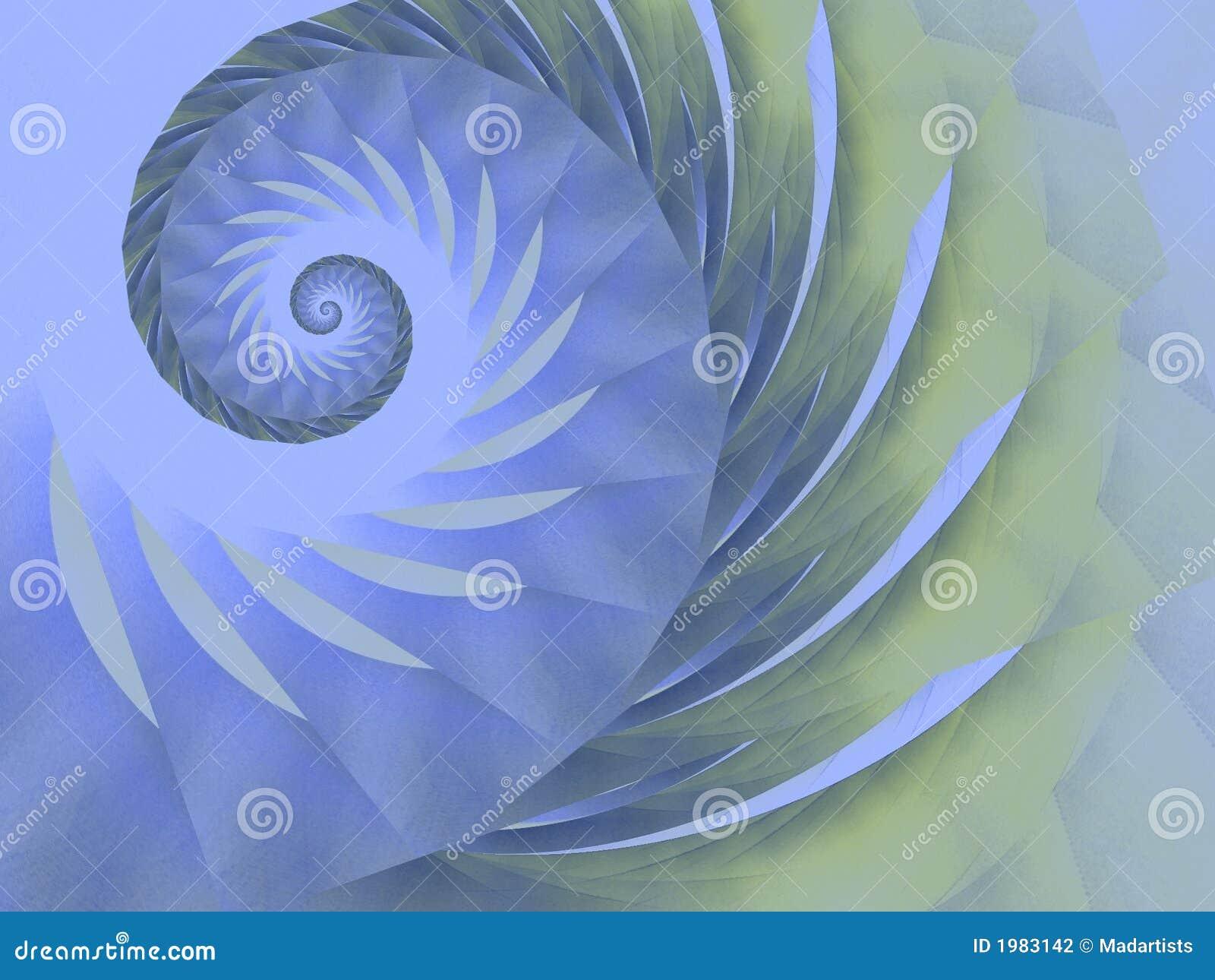 蓝色设计绿色螺旋漩涡