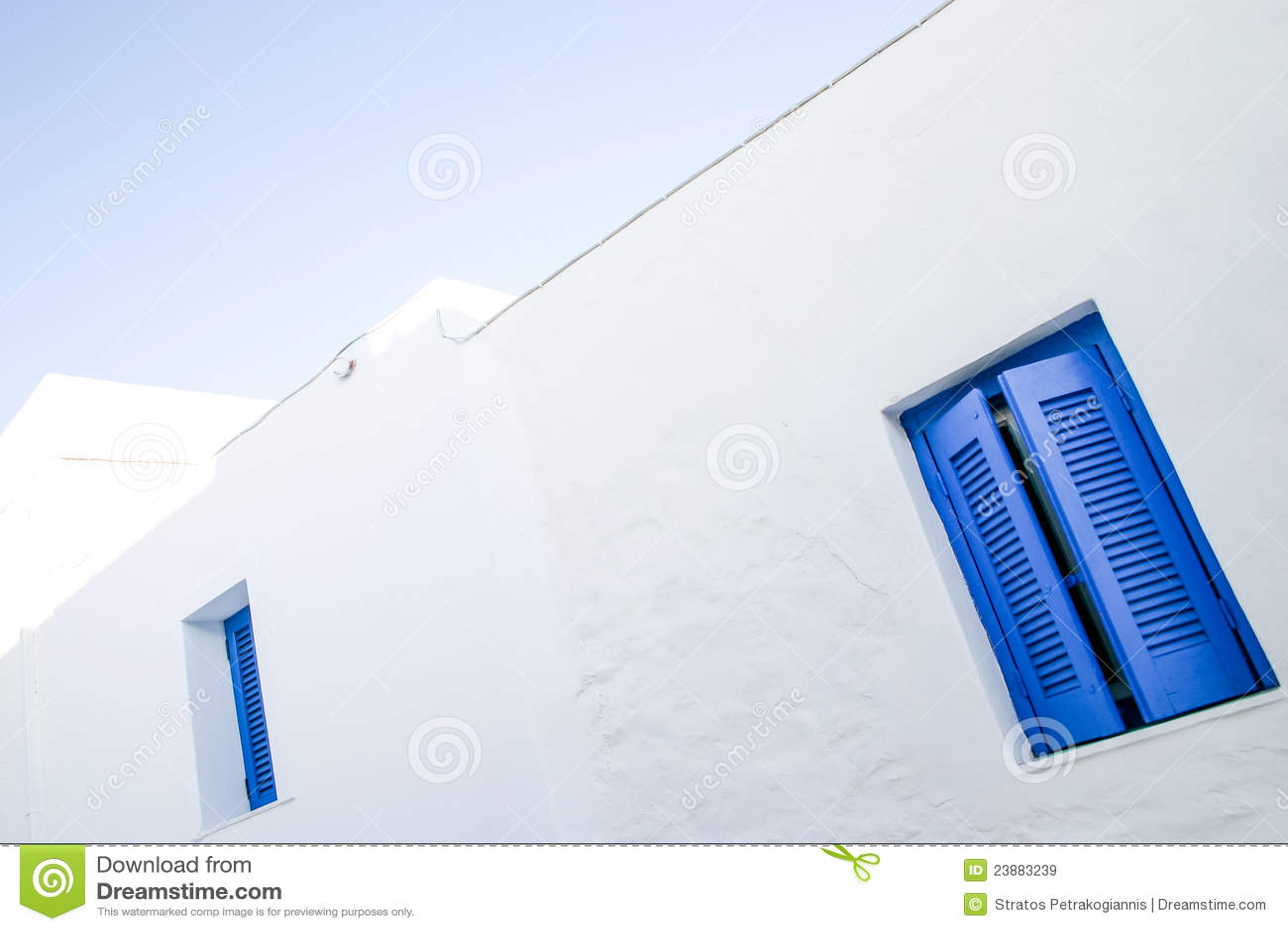 蓝色详述希腊海岛serifos视窗