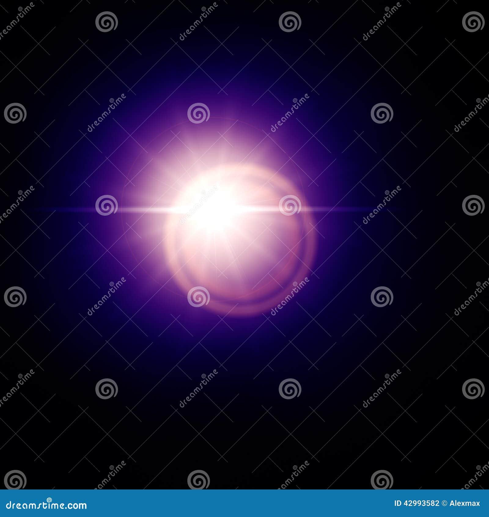 蓝色透镜火光太阳作用