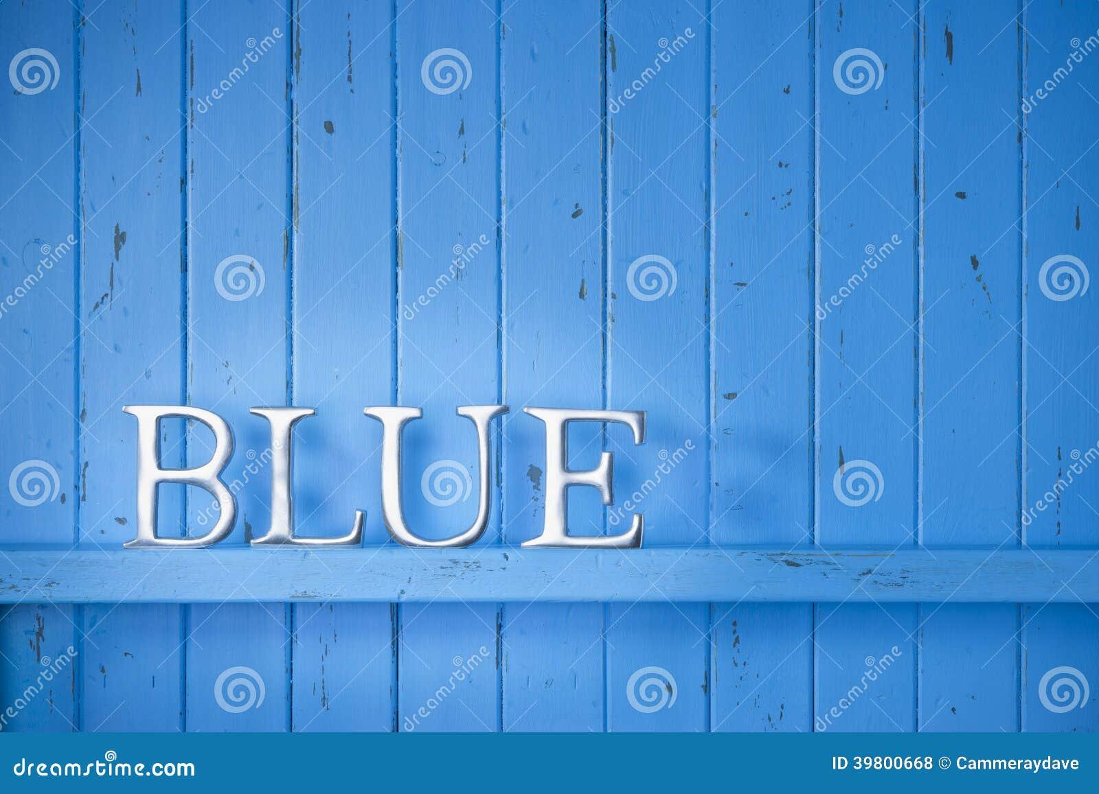 蓝色颜色词背景