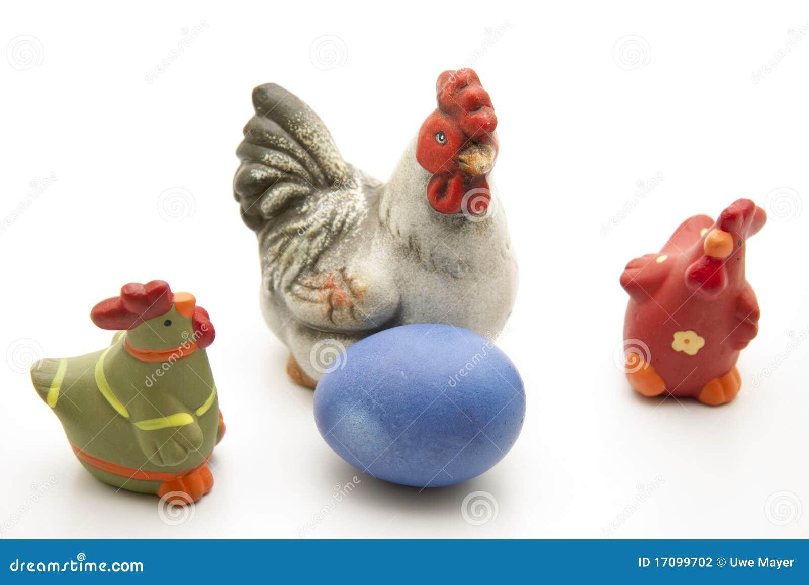 蓝色鸡easters鸡蛋