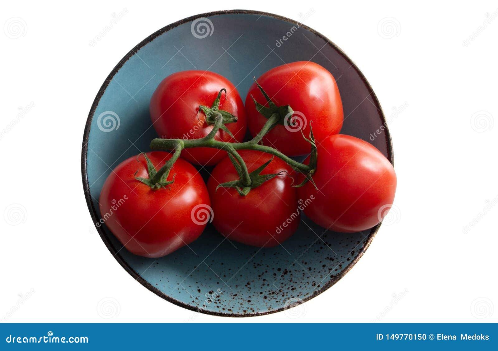 蕃茄分支在一块海洋绿的板材,绿松石板材的 o