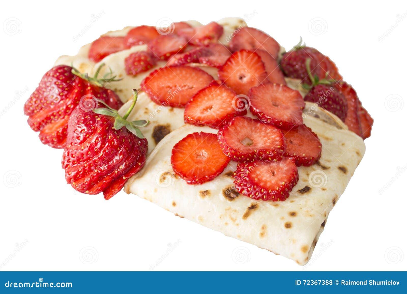 薄煎饼用草莓
