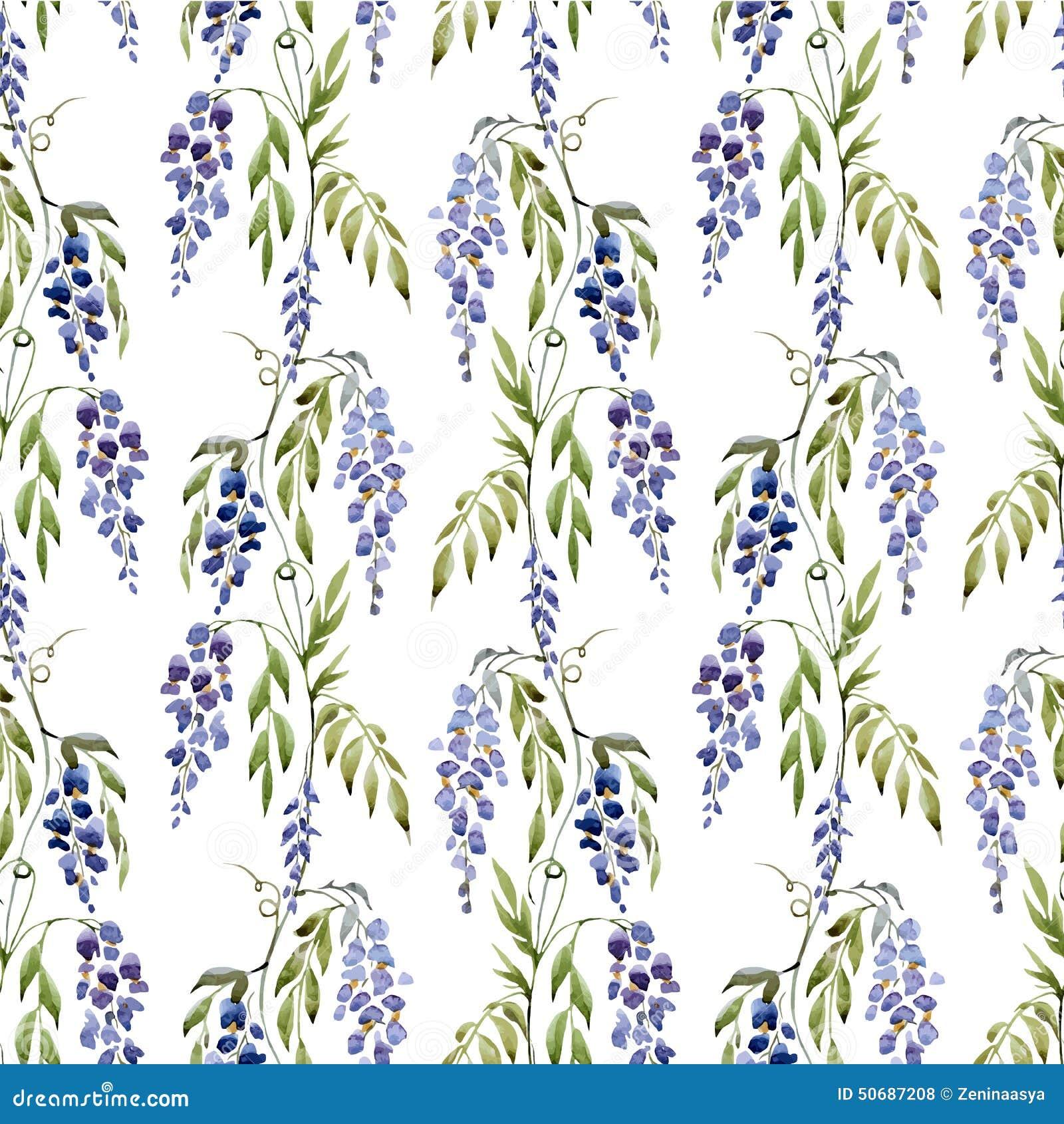Download 紫藤花 向量例证. 插画 包括有 花卉, 艺术, 模式, 蓝色, beautifuler, 背包, 本质 - 50687208