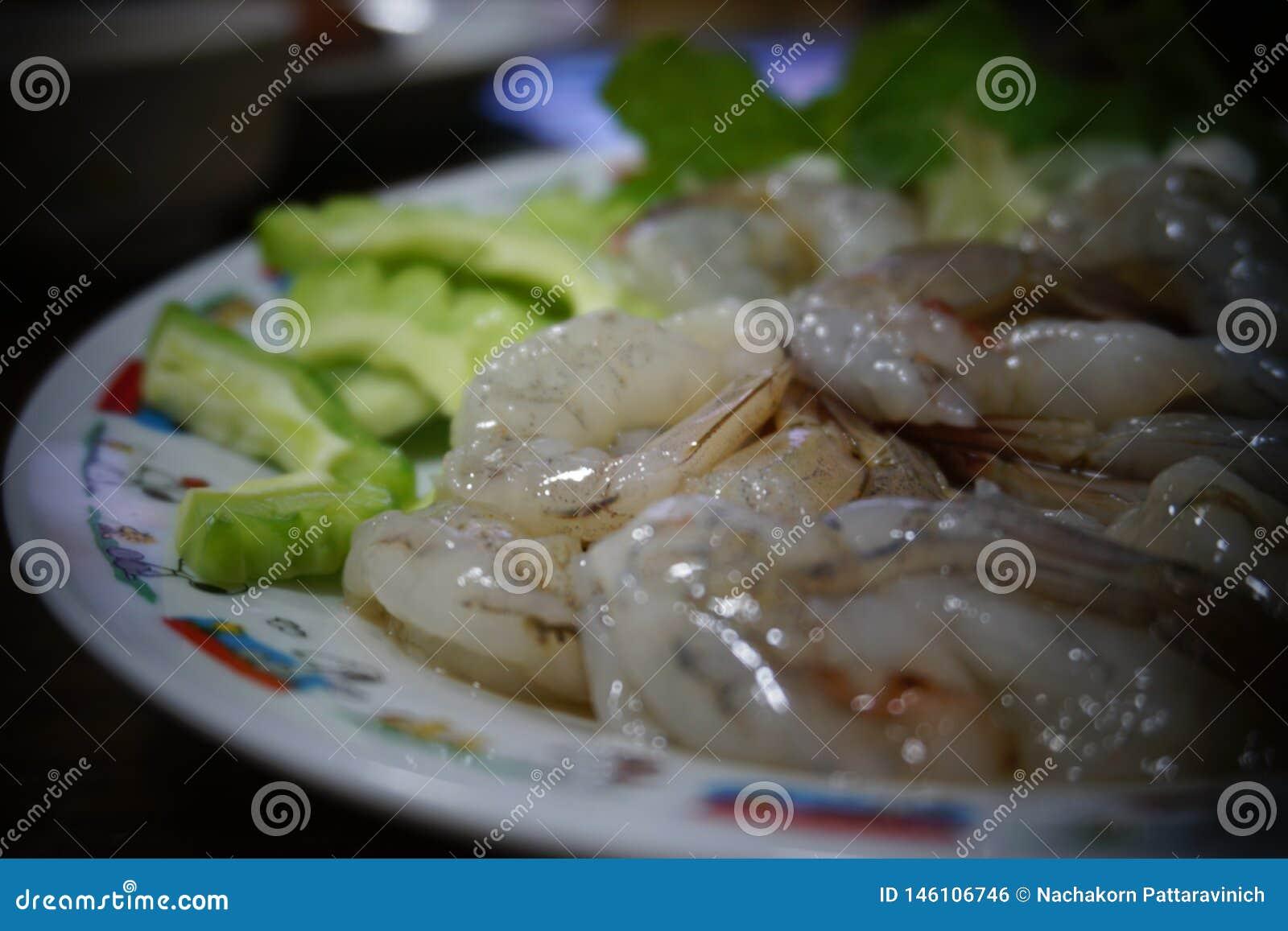 虾浸泡调味汁鱼