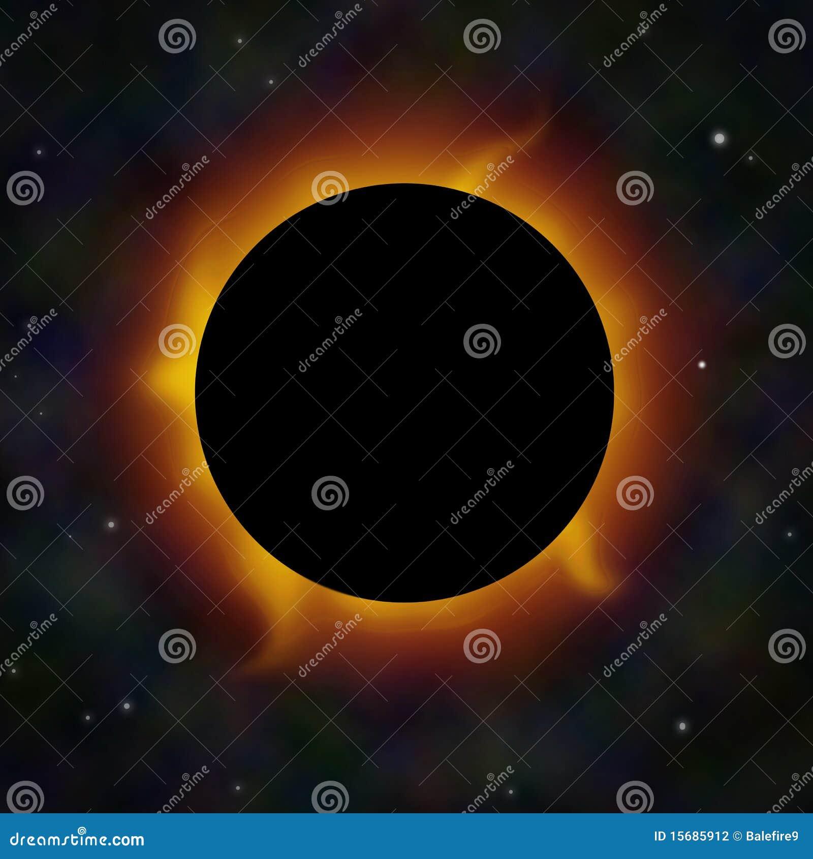 蚀飘动太阳空间