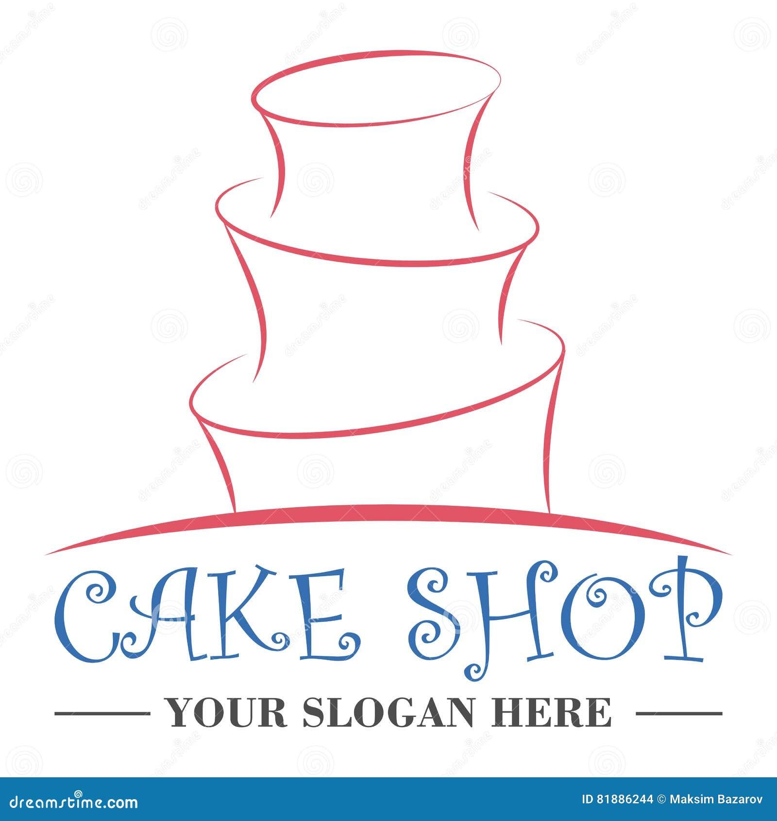 蛋糕商店商标设计模板