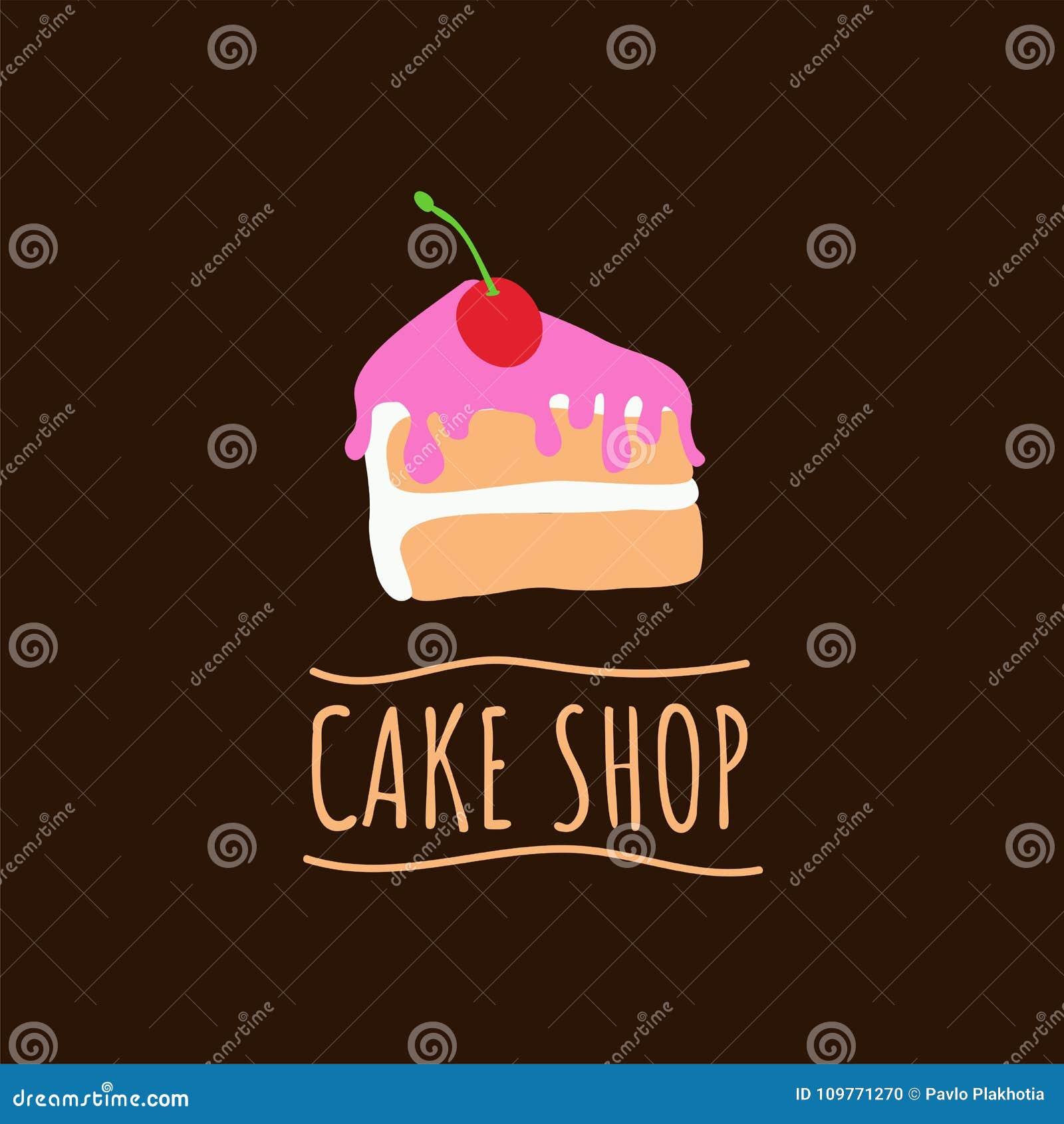 蛋糕商店商标 烘烤和面包店房子象征 点心和酥皮点心咖啡馆标签,传染媒介例证