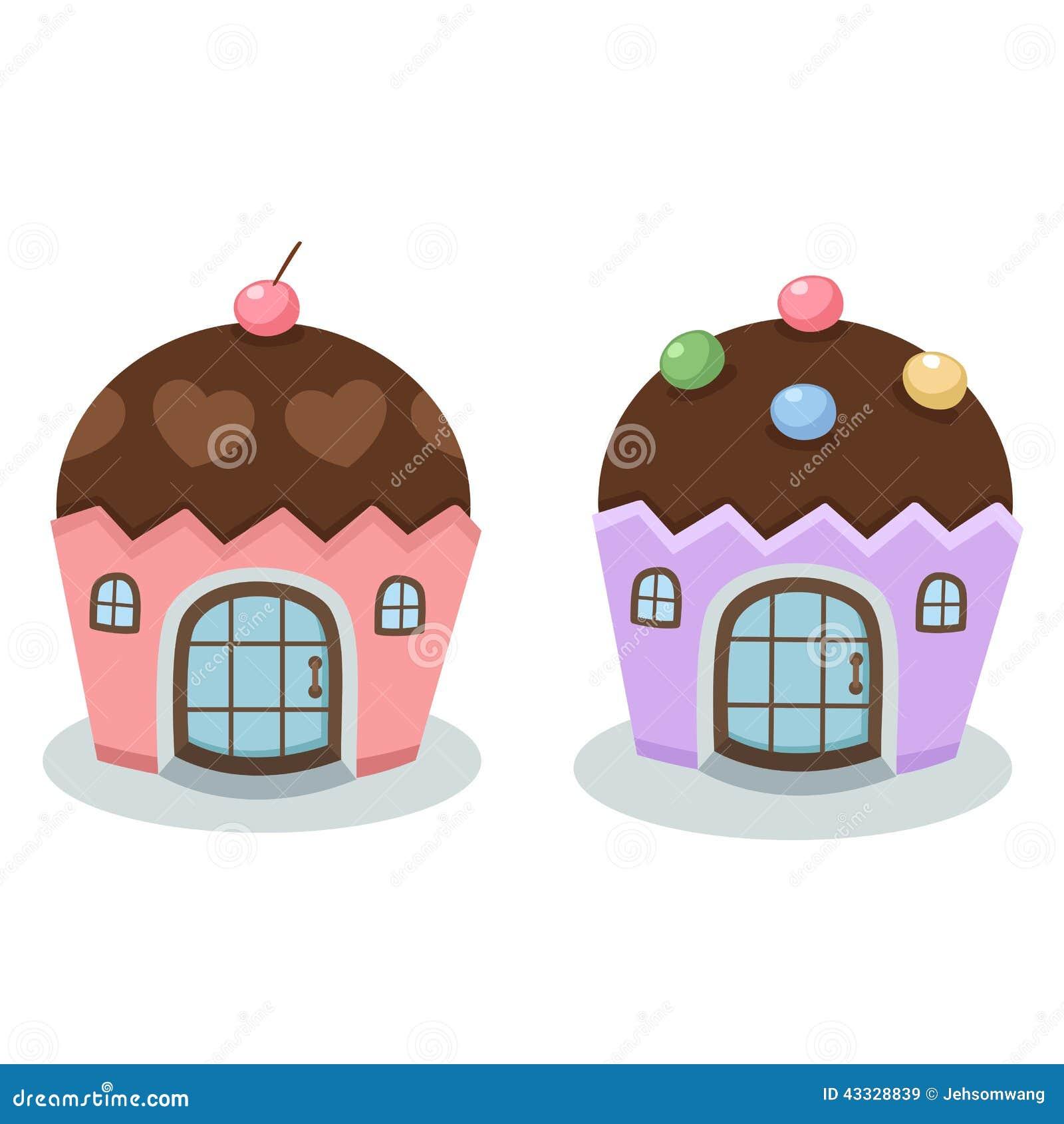 蛋糕房子传染媒介的例证.图片