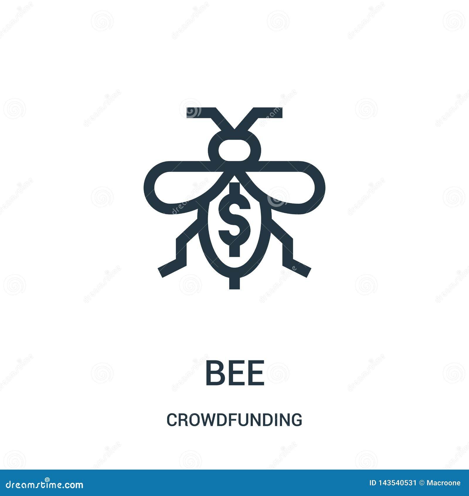 蜂从crowdfunding的收藏的象传染媒介 稀薄的线蜂概述象传染媒介例证