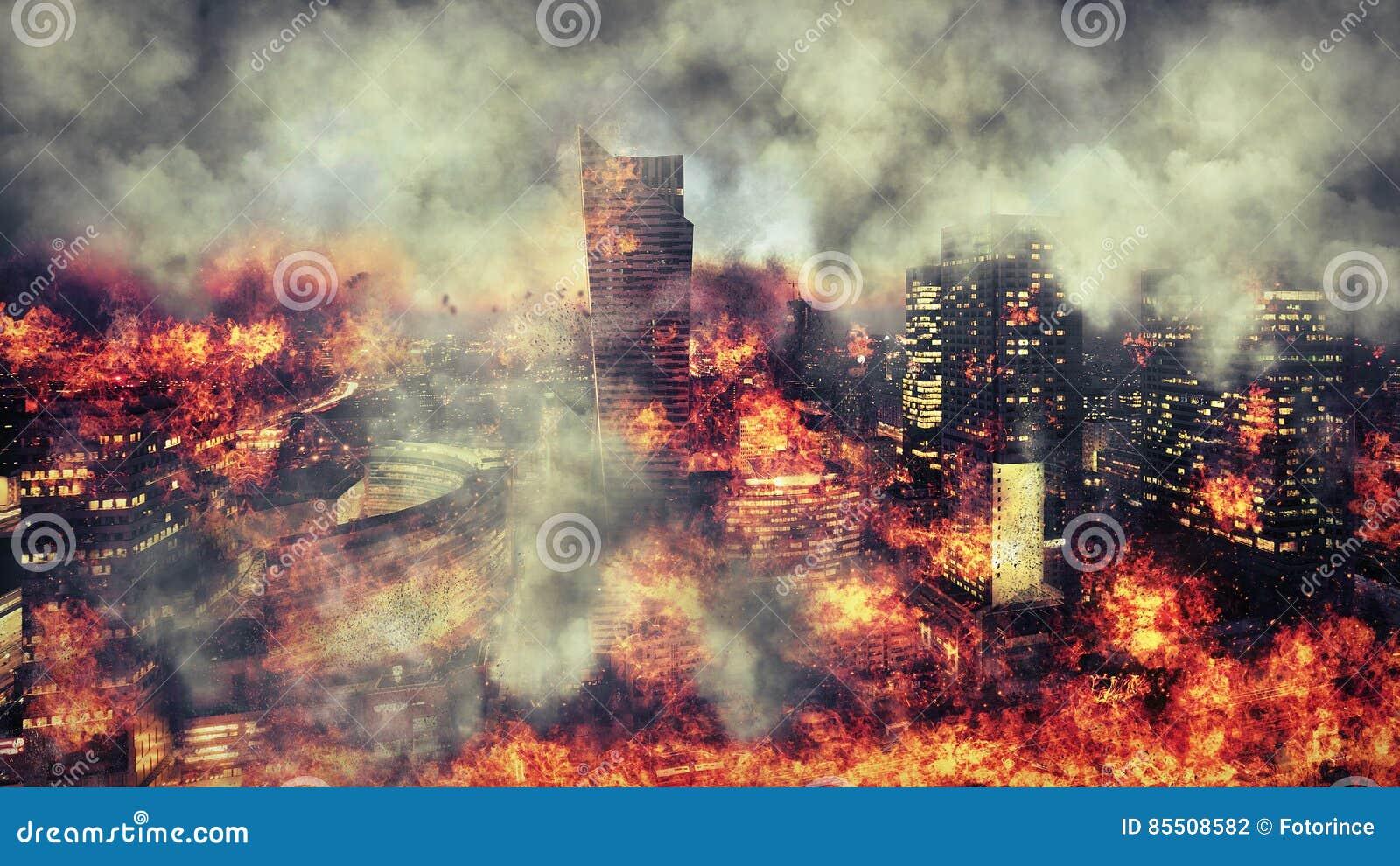 养蜂家 灼烧的城市,抽象视觉