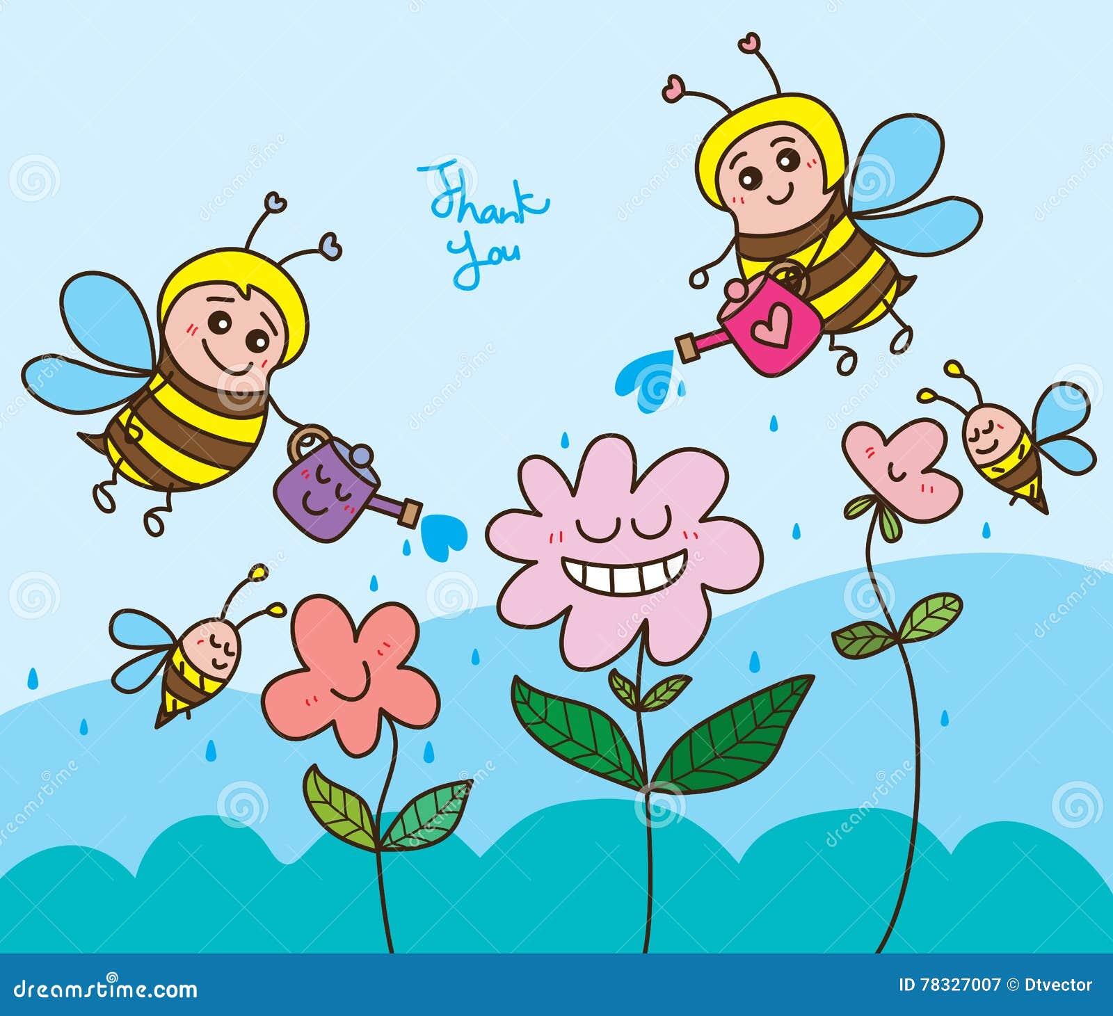 蜂愉快水的花感谢您