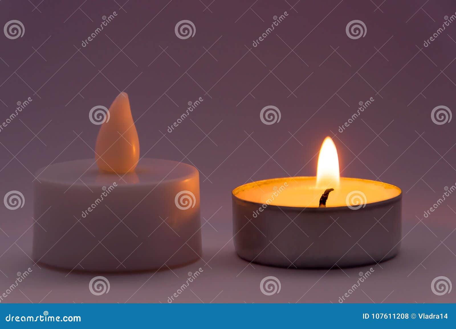 蜡烛伪造品对真正的概念
