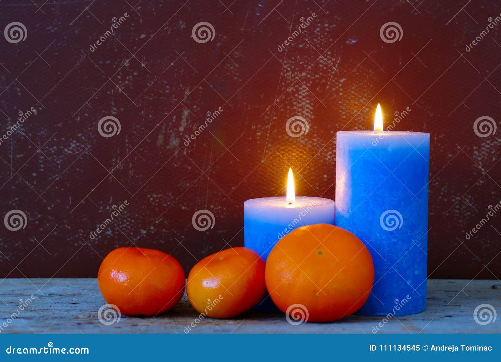 蜡烛和桔子