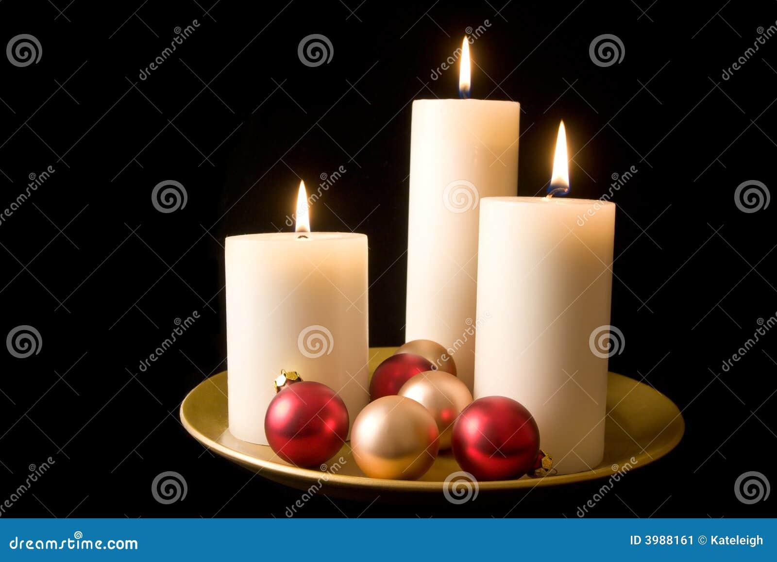 蜡烛装饰显示