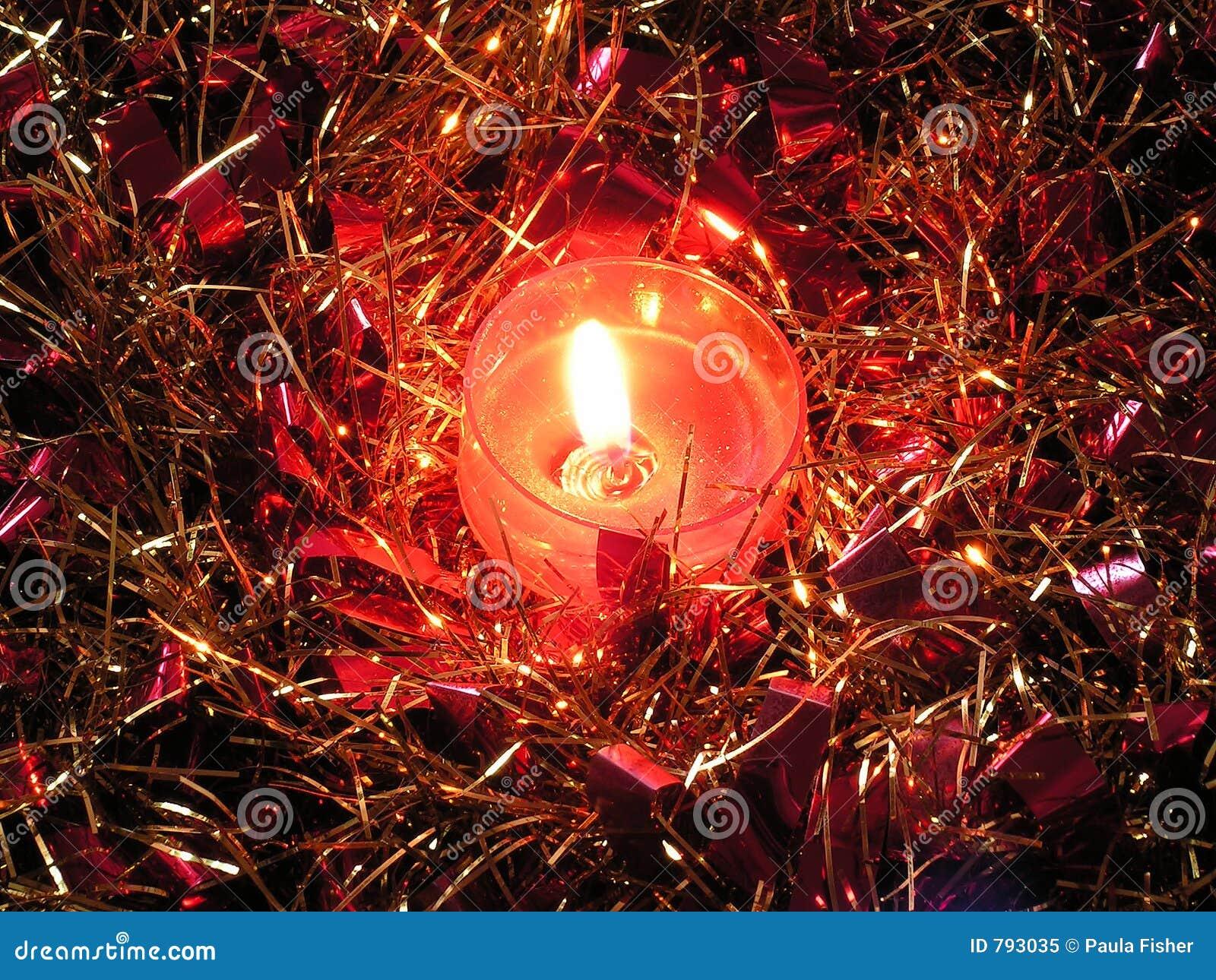 蜡烛闪亮金属片