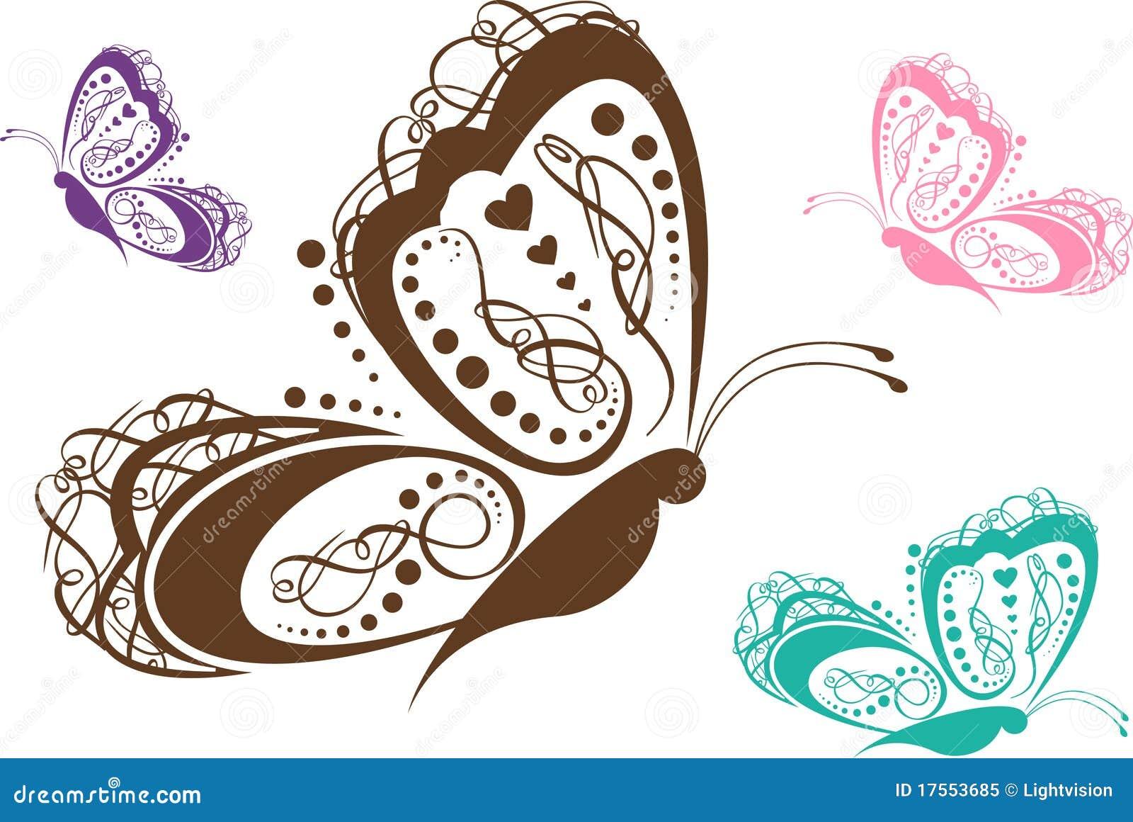 蝴蝶五颜六色的滚动