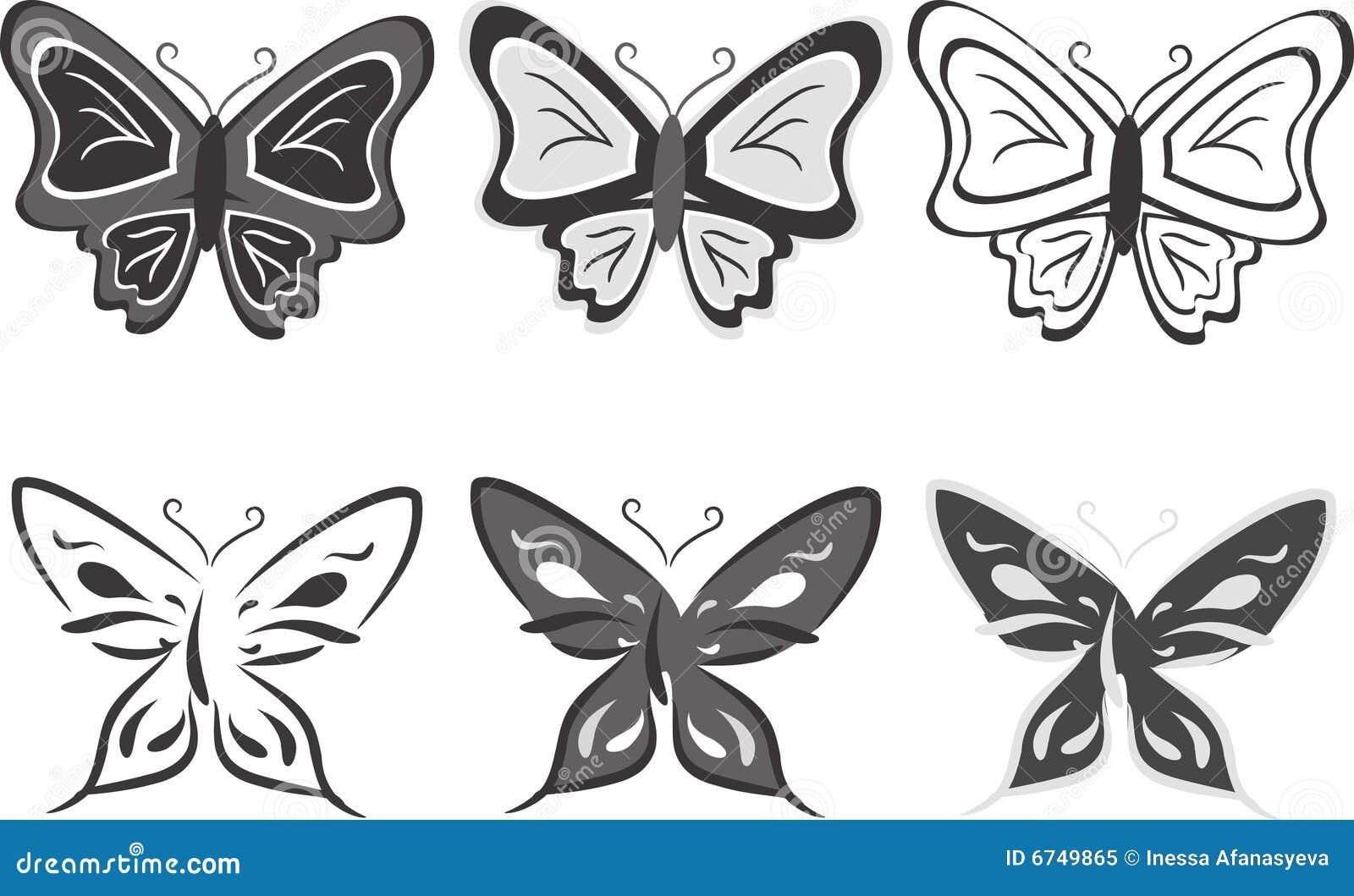 蝴蝶收集例证向量