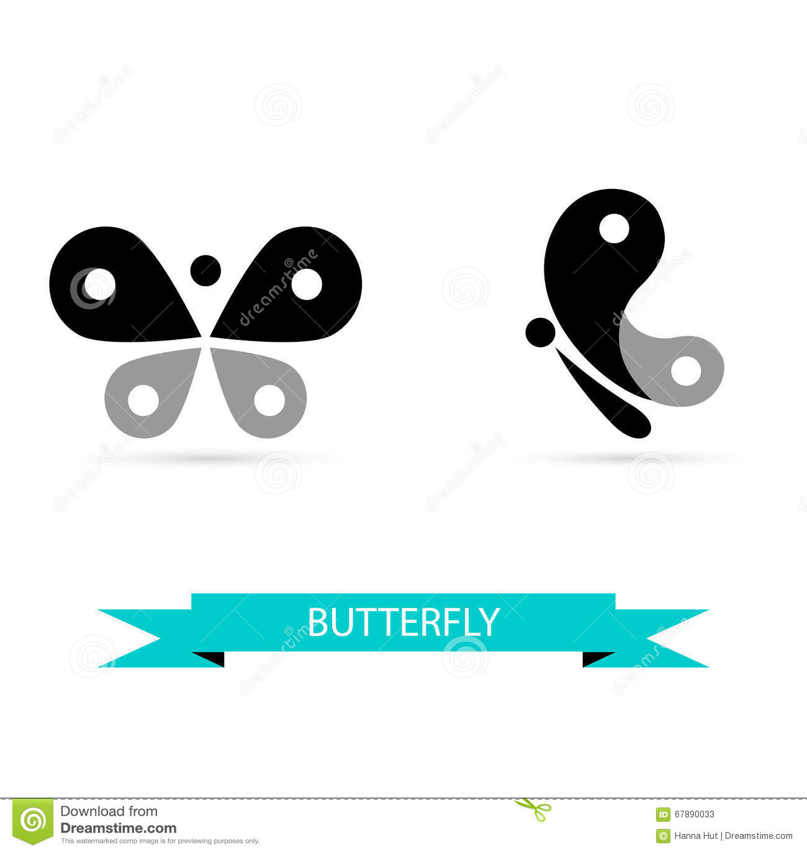 蝴蝶象,传染媒介标志