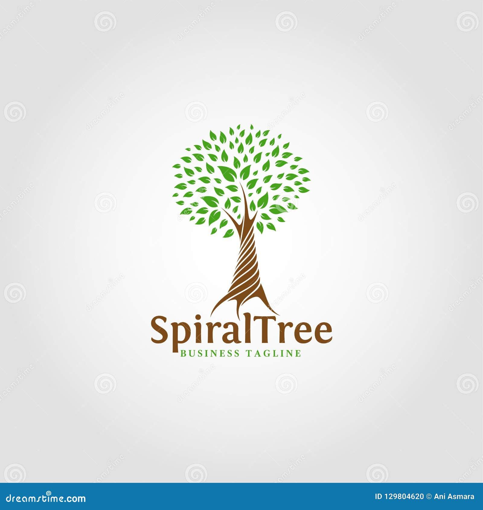 螺旋树-自然商标模板