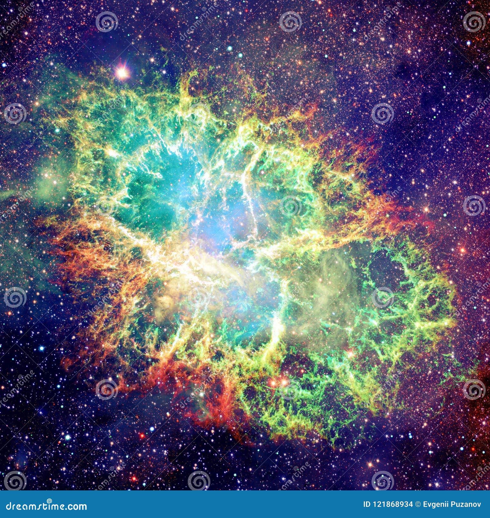 蟹状星云 美国航空航天局装备的这个图象的元素