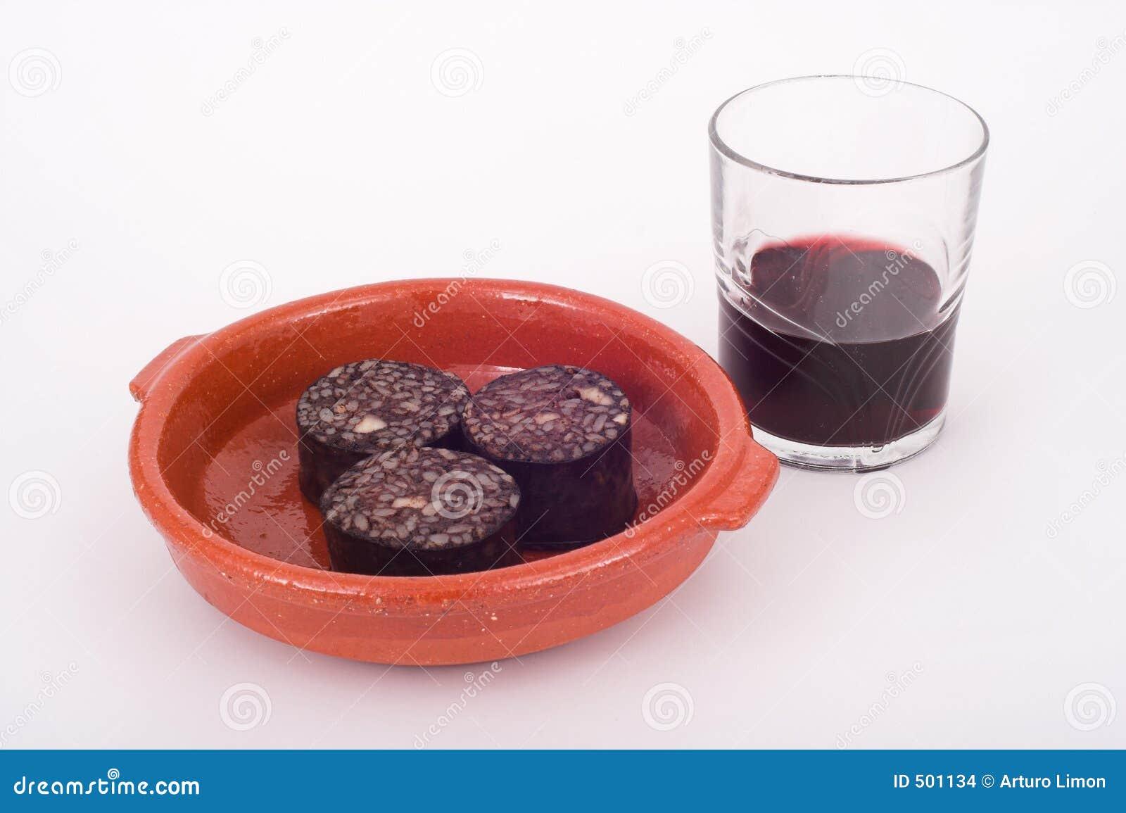 血液猪肉布丁酒