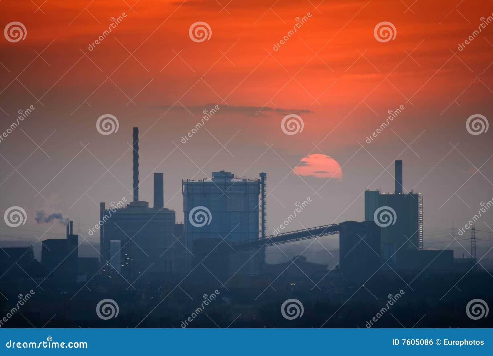 行业地平线日落